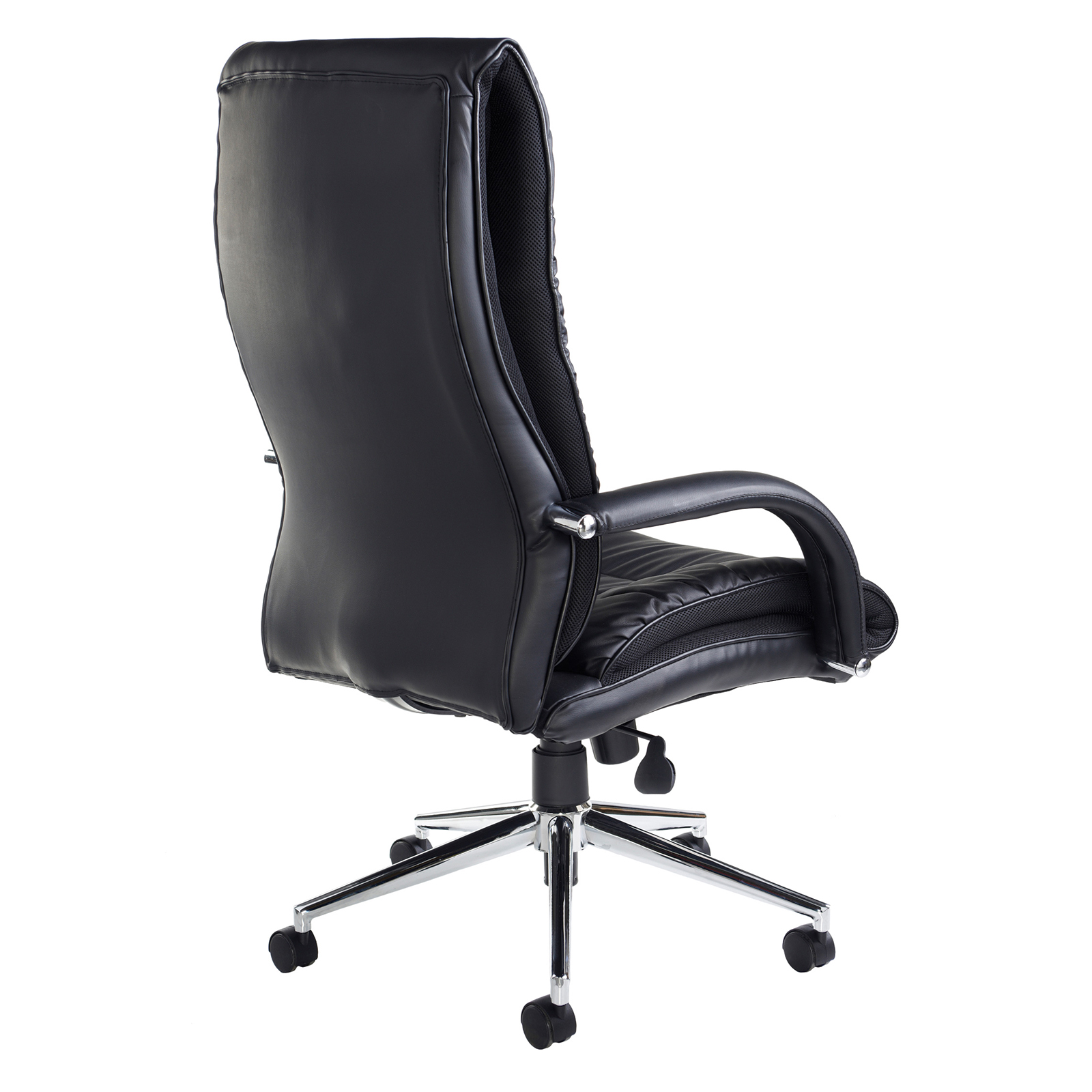 Derby high back executive chair - black faux leather