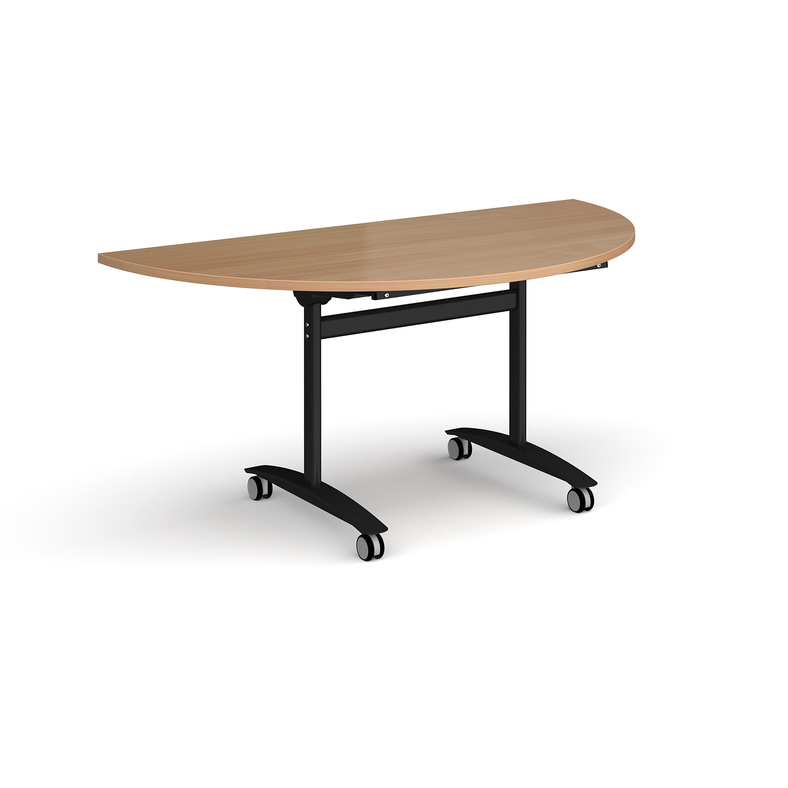Boardroom / Meeting Semi circular deluxe fliptop meeting table