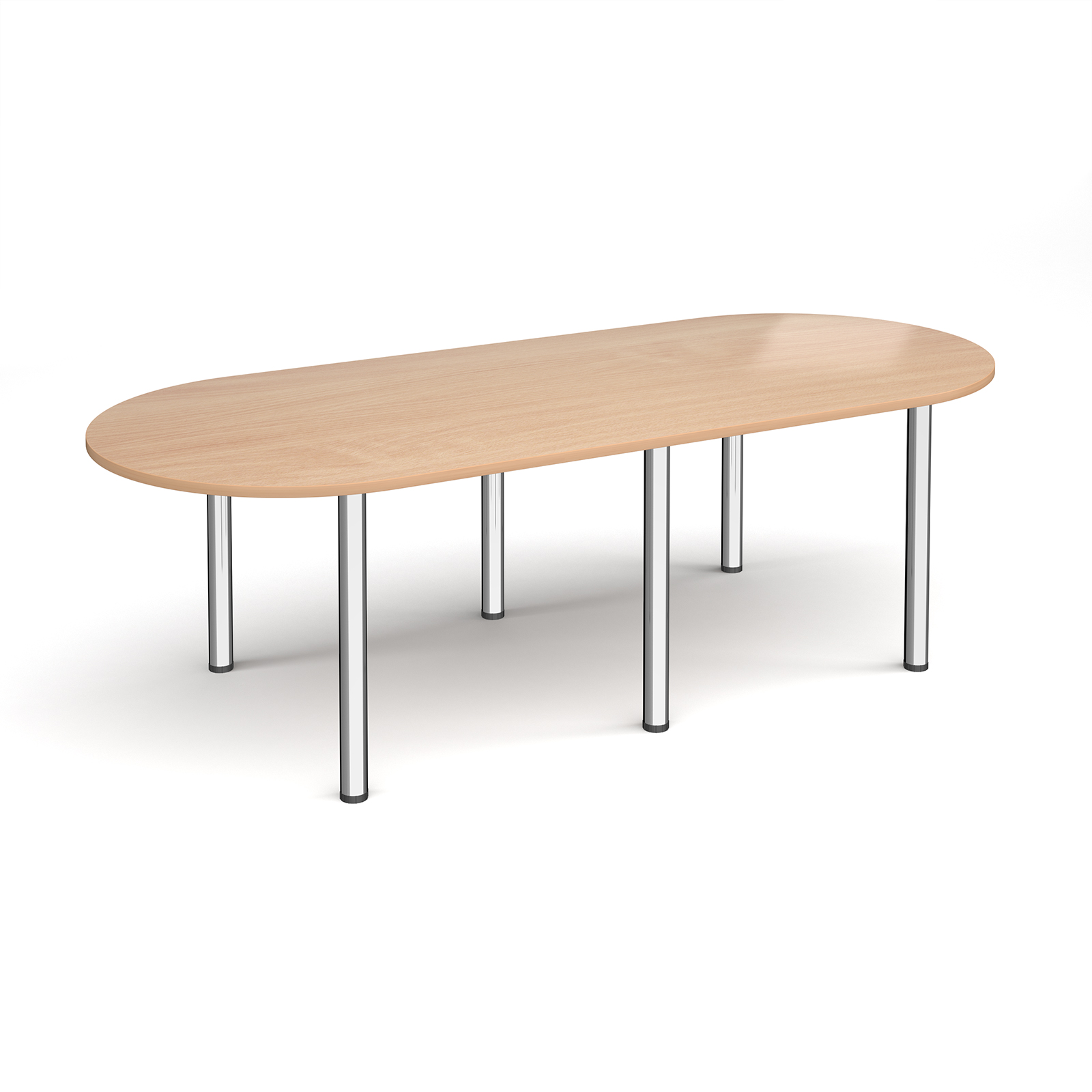 Boardroom / Meeting Radial end meeting table with 6 radial legs