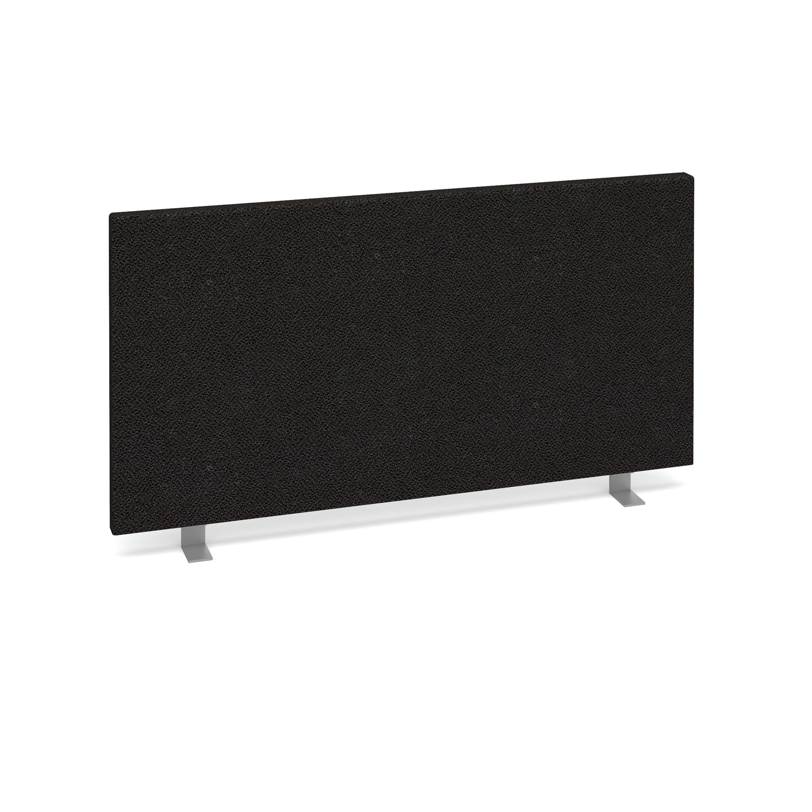 Straight Tops Straight desktop fabric screen 800mm x 400mm - charcoal