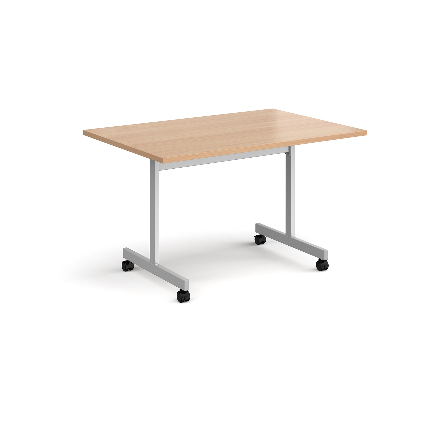 Rectangular fliptop meeting table