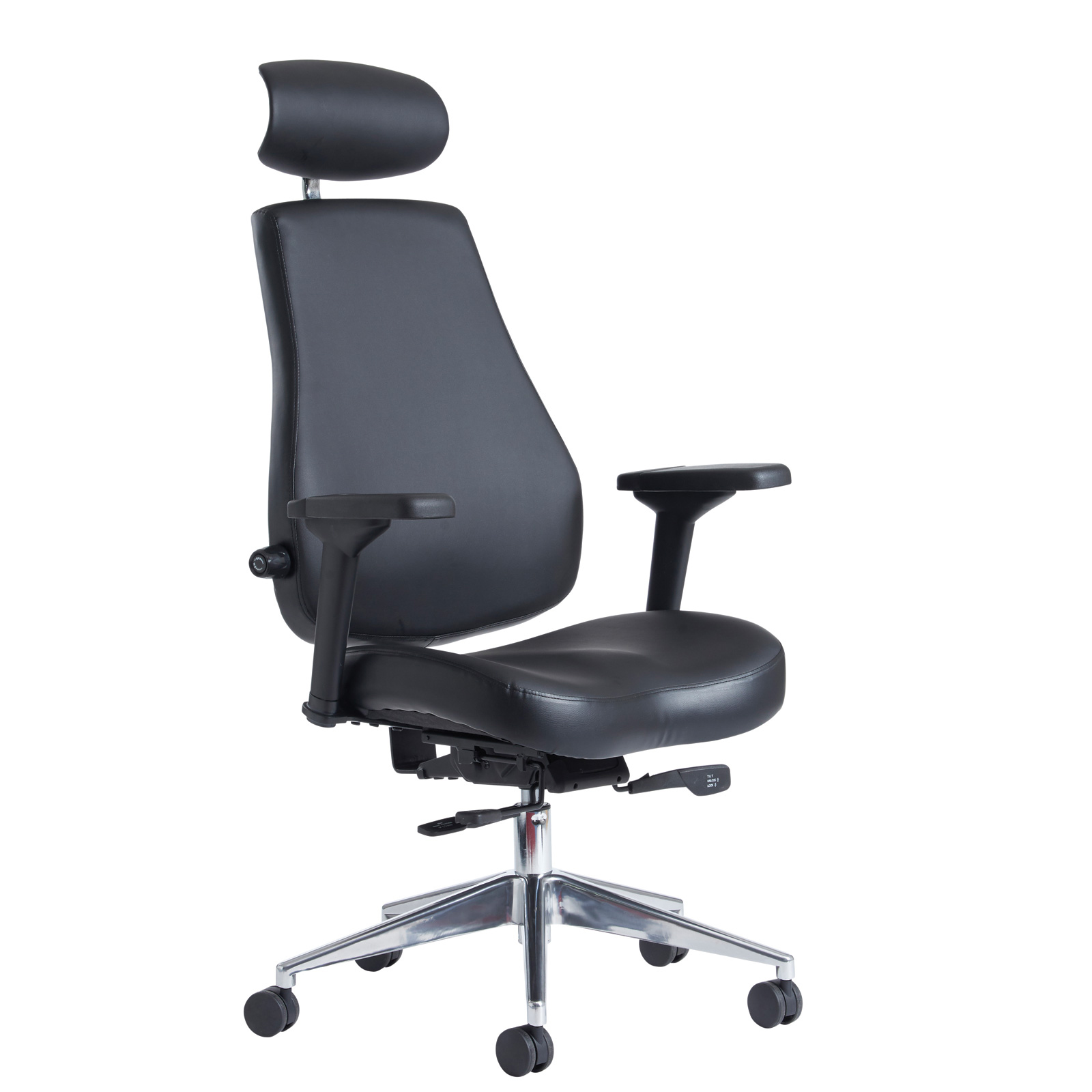 Executive Chairs Franklin high back 24 hour task chair - black faux leather