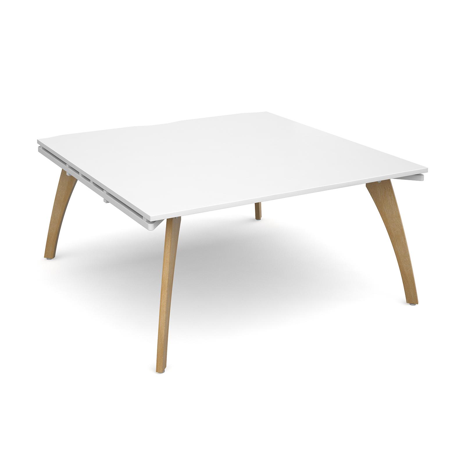 Fuze boardroom table starter unit 1600mm x 1600mm - white frame, white top