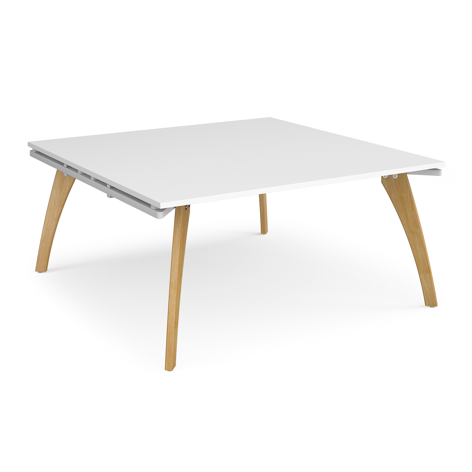 Fuze square boardroom table 1600mm x 1600mm - white frame, white top