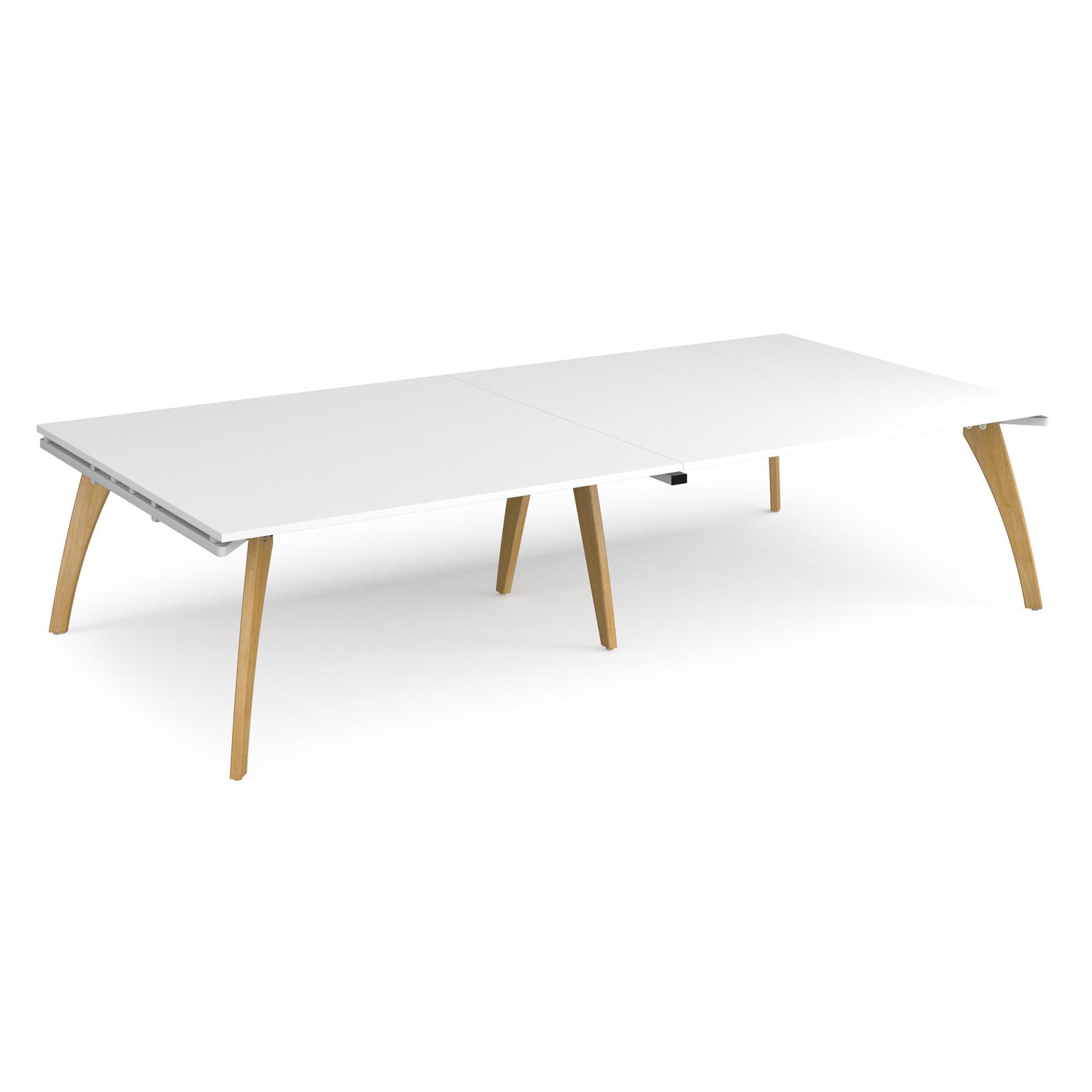 Fuze rectangular boardroom table 3200mm x 1600mm - white frame, white top