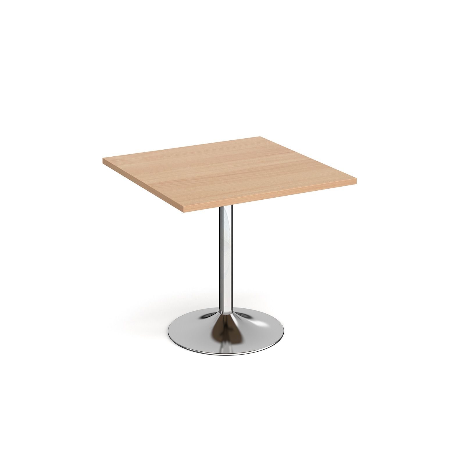 Genoa square dining table with trumpet base