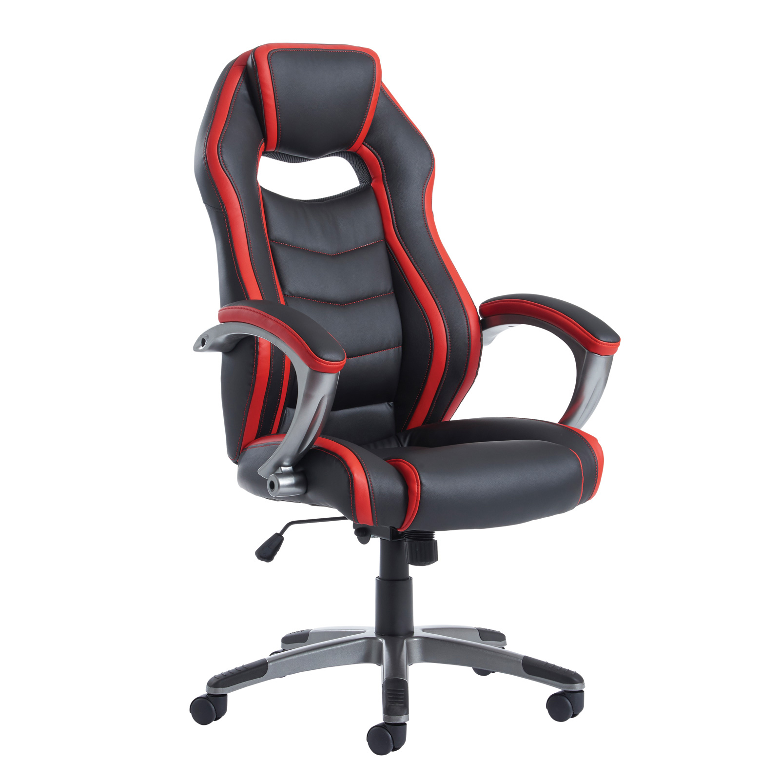 Executive Chairs Jensen high back executive chair - black and red faux leather