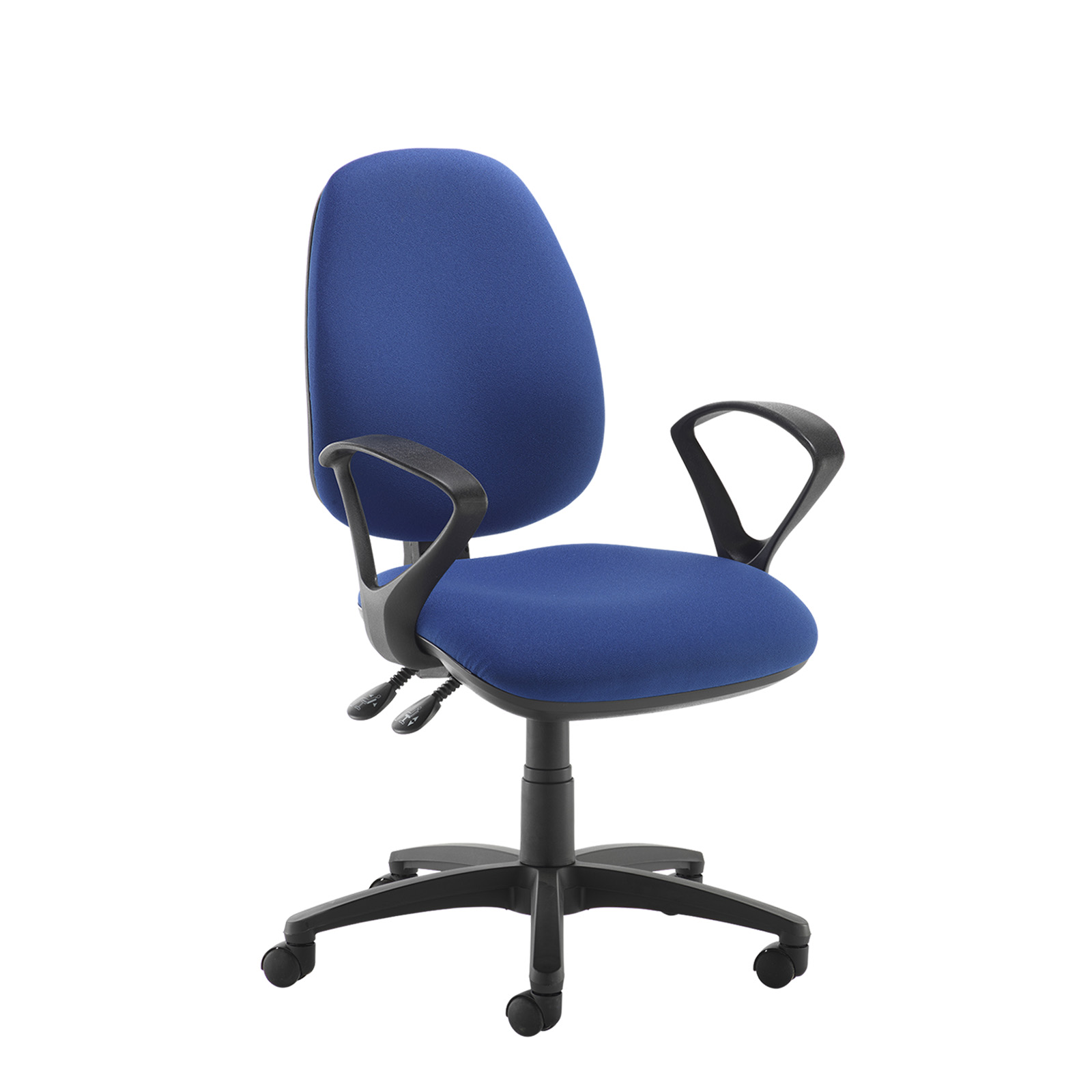 Desk Chairs Jota high back operator chair with fixed arms - blue