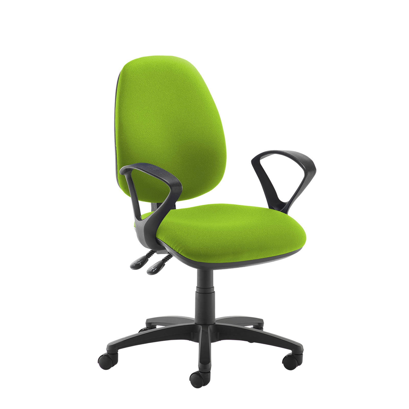 Desk Chairs Jota high back operator chair with fixed arms - green