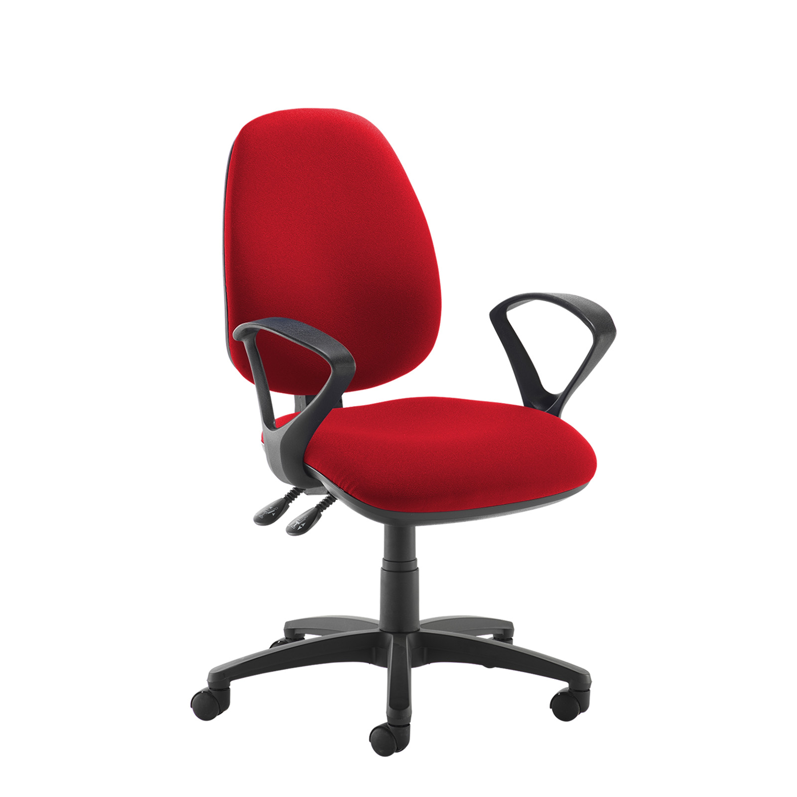 Desk Chairs Jota high back operator chair with fixed arms - red