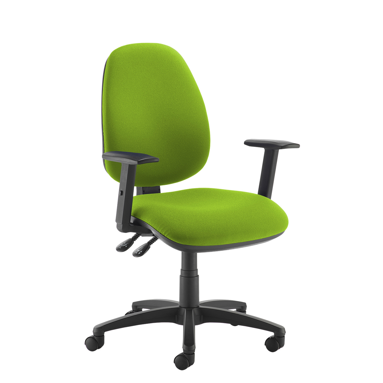 Desk Chairs Jota high back operator chair with adjustable arms - green