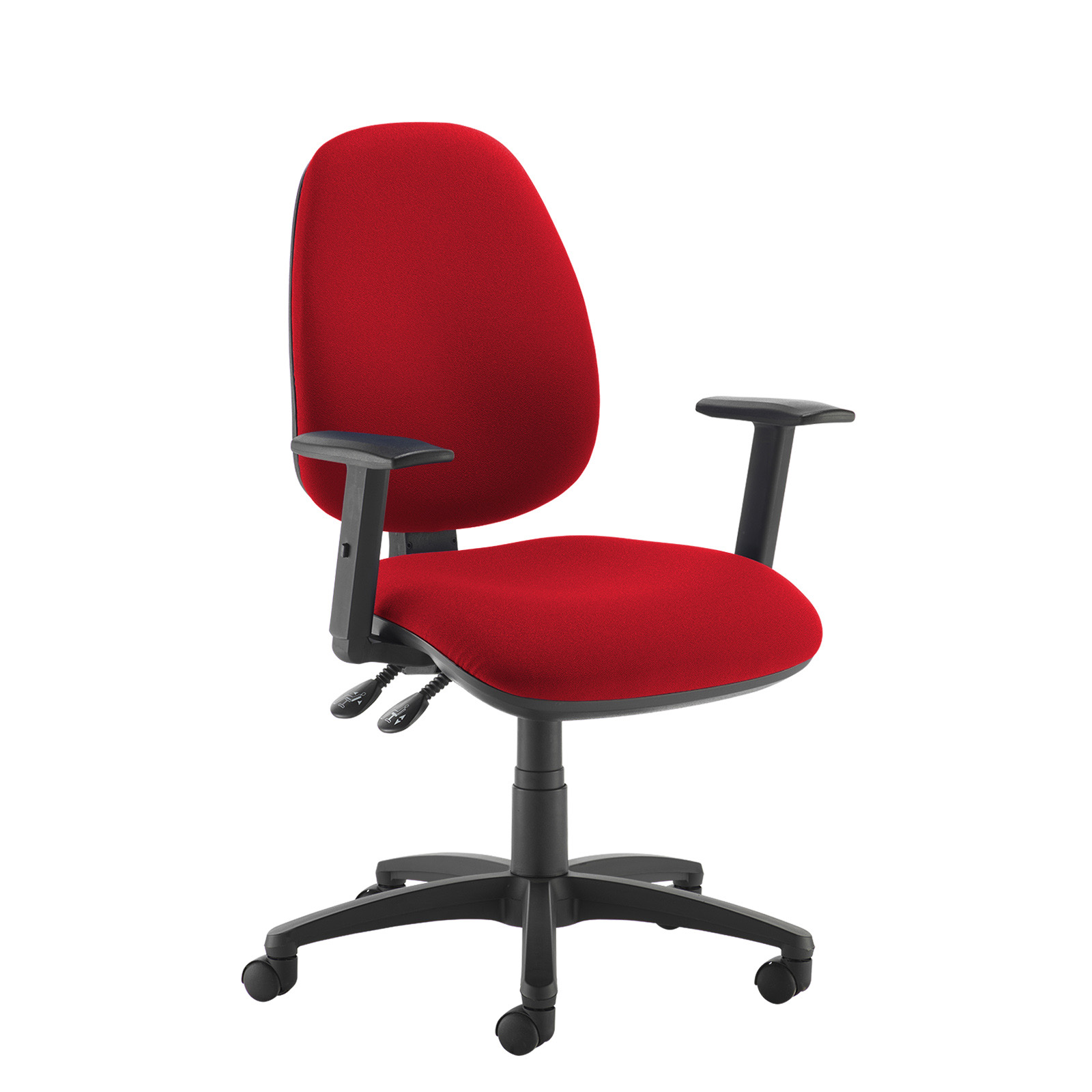 Desk Chairs Jota high back operator chair with adjustable arms - red