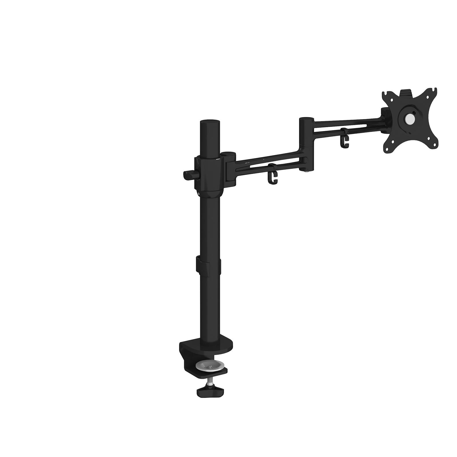 Arms Luna single flat screen monitor arm - black
