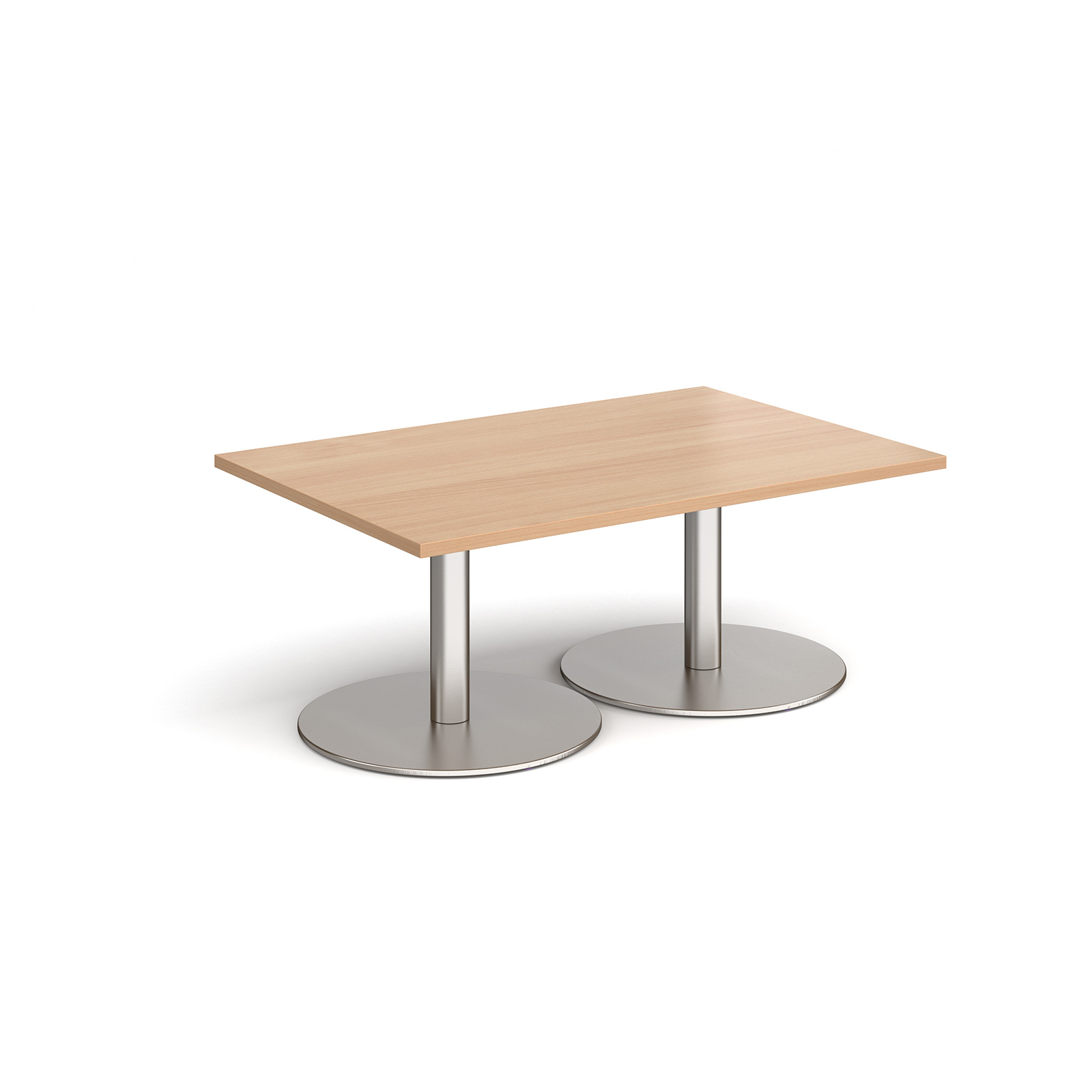 Coffee Monza rectangular coffee table with flat round bases