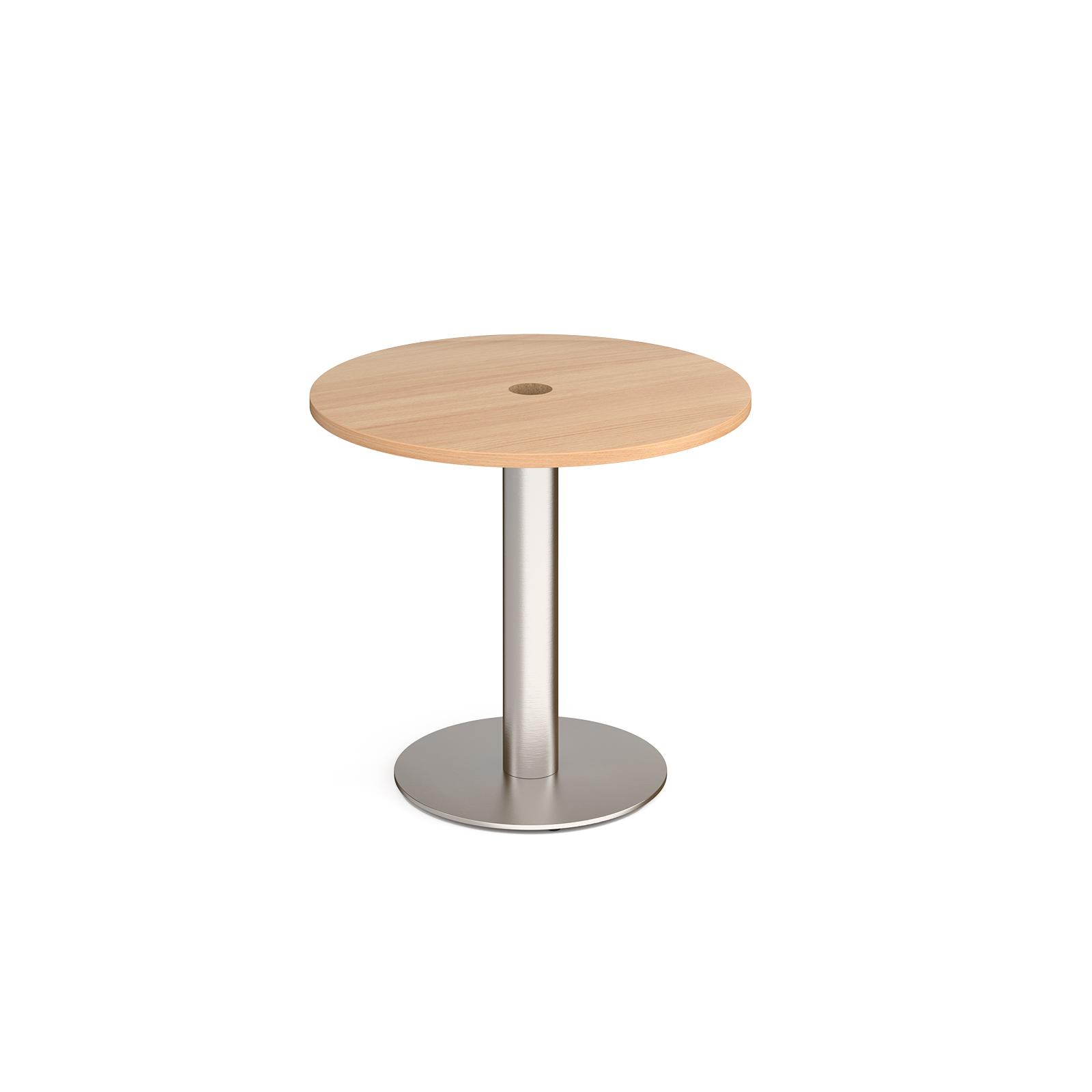 Monza circular power ready dining table