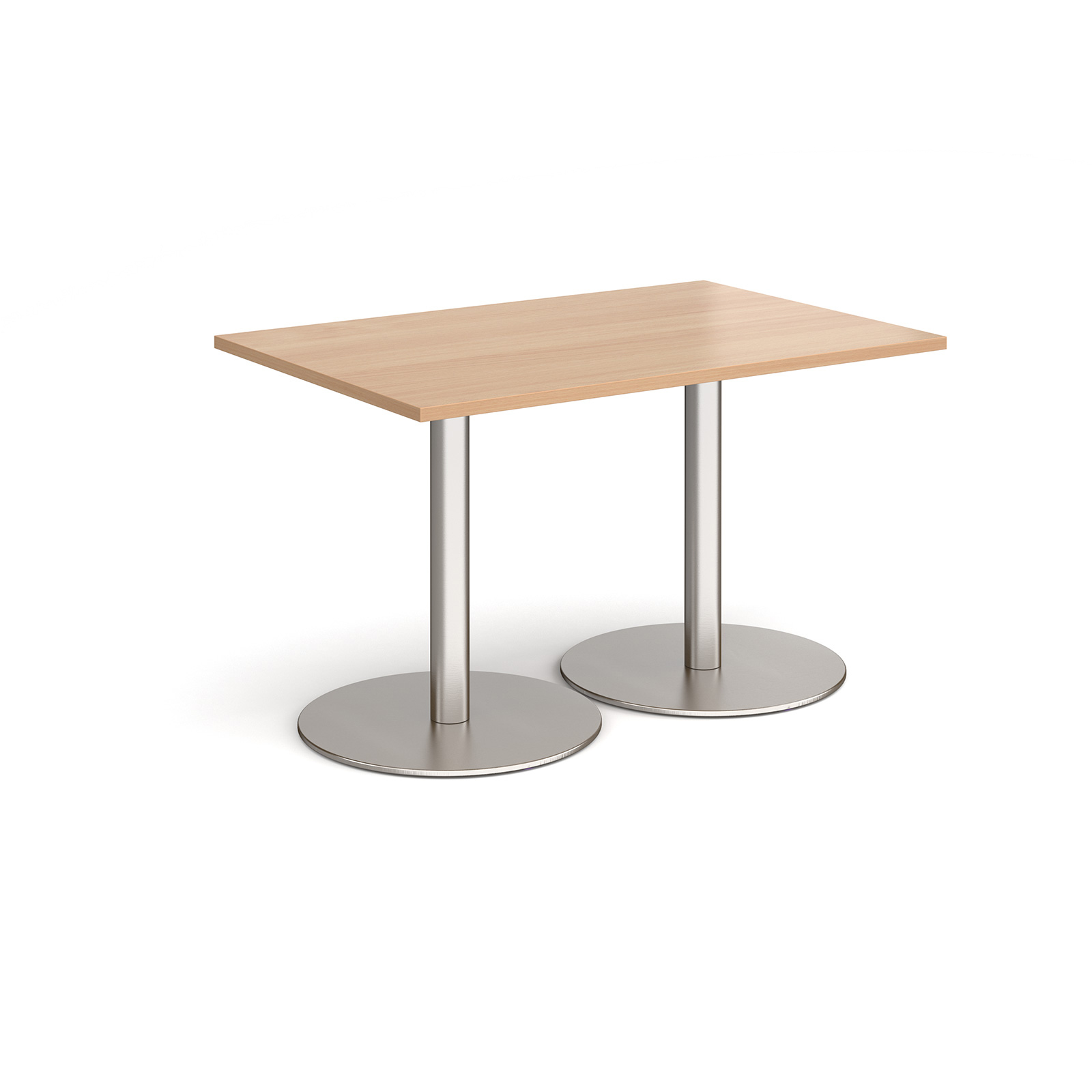 Canteen / Dining Monza rectangular dining table with flat round bases