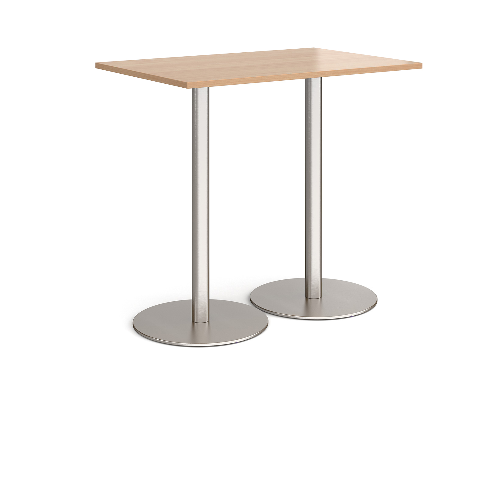 Canteen / Dining Monza rectangular poseur table with round bases