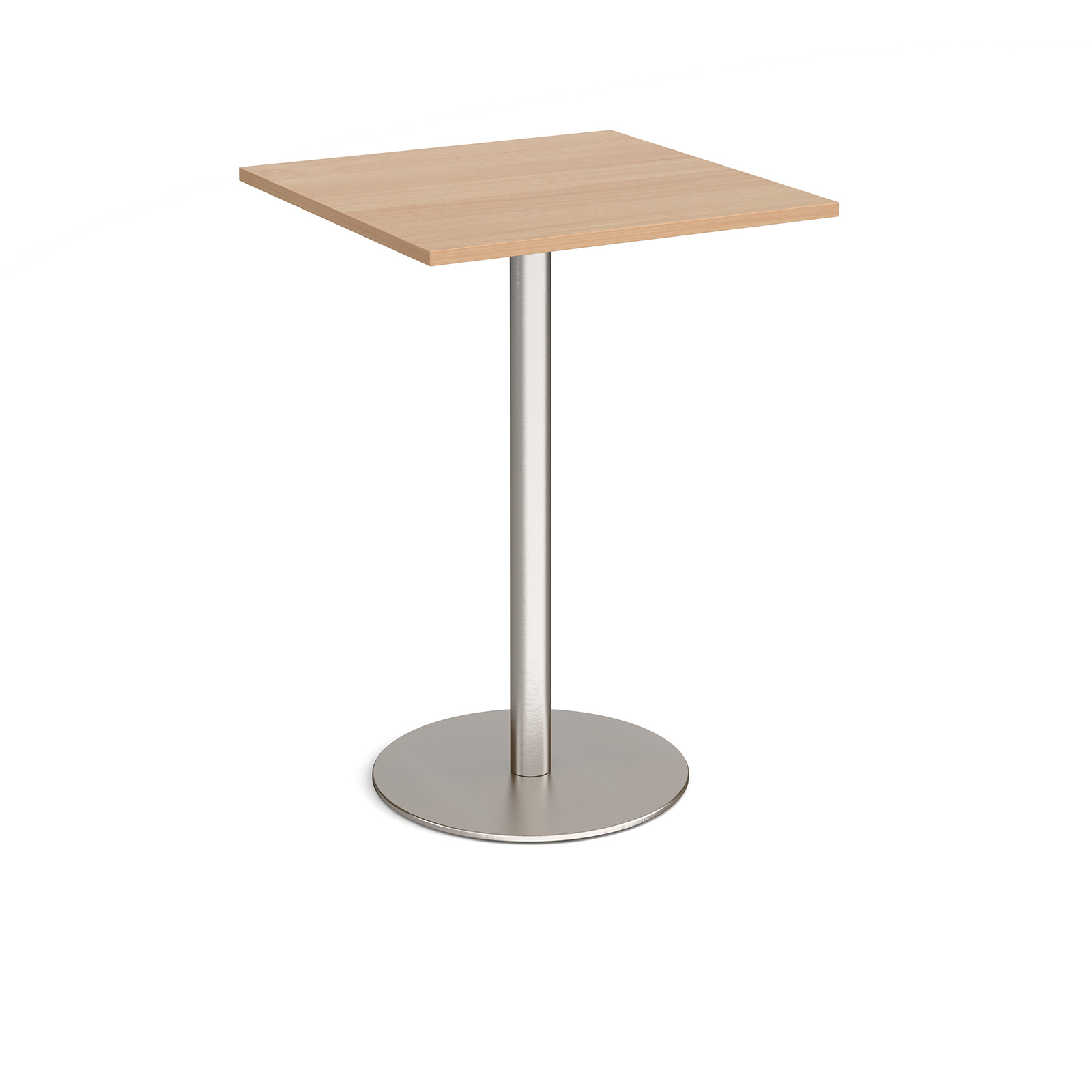 Canteen / Dining Monza square poseur table with flat round base