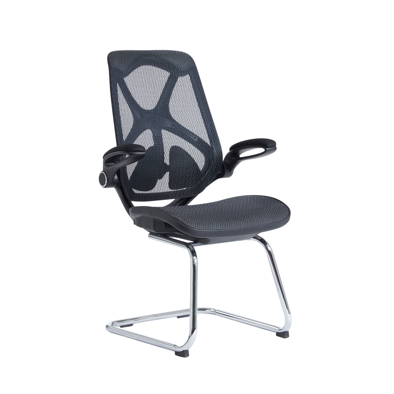 Boardroom / Meeting Napier high mesh back visitors chair with mesh seat - black