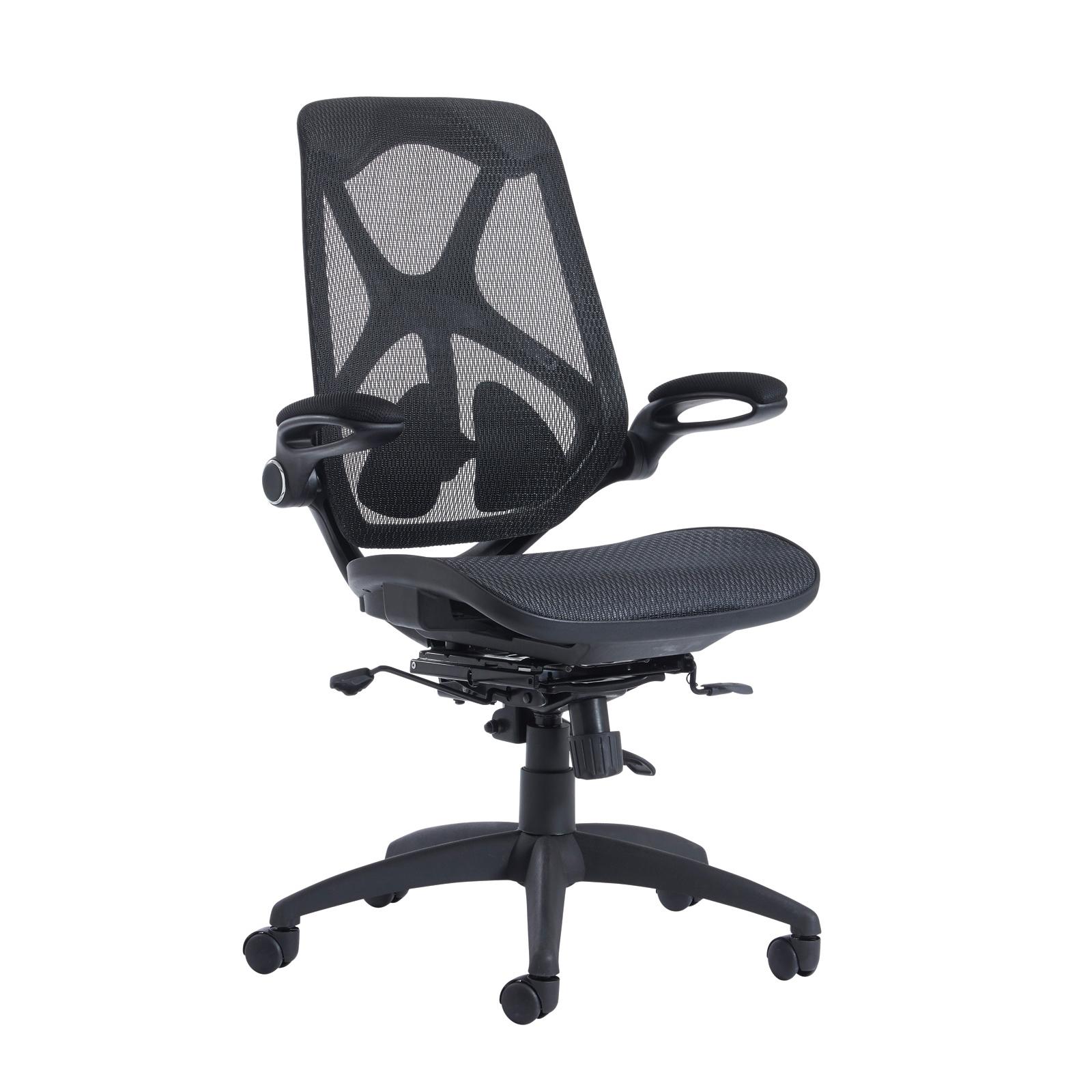 Desks Napier high mesh back operator chair with mesh seat - black