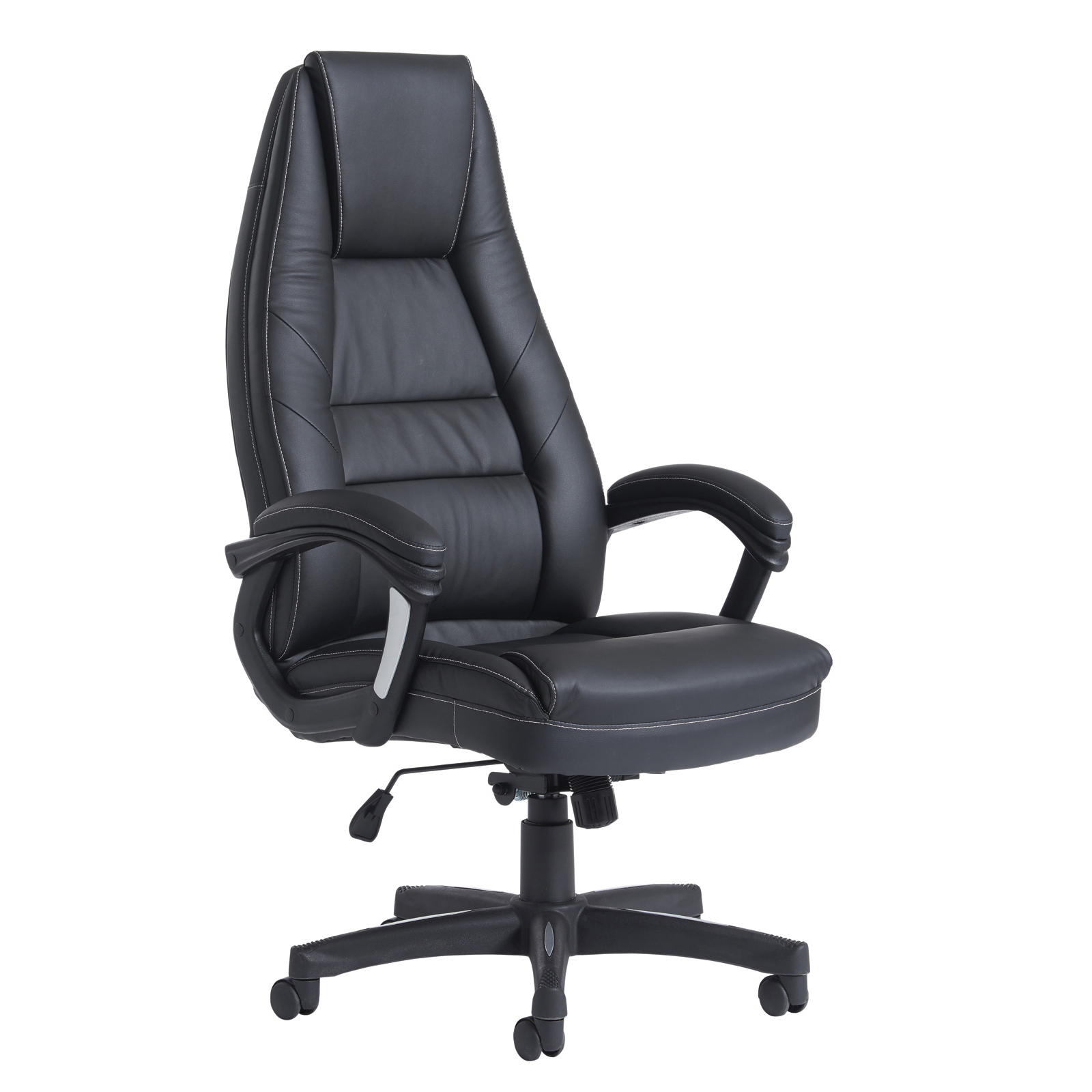 Executive Chairs Noble high back managers chair - black faux leather