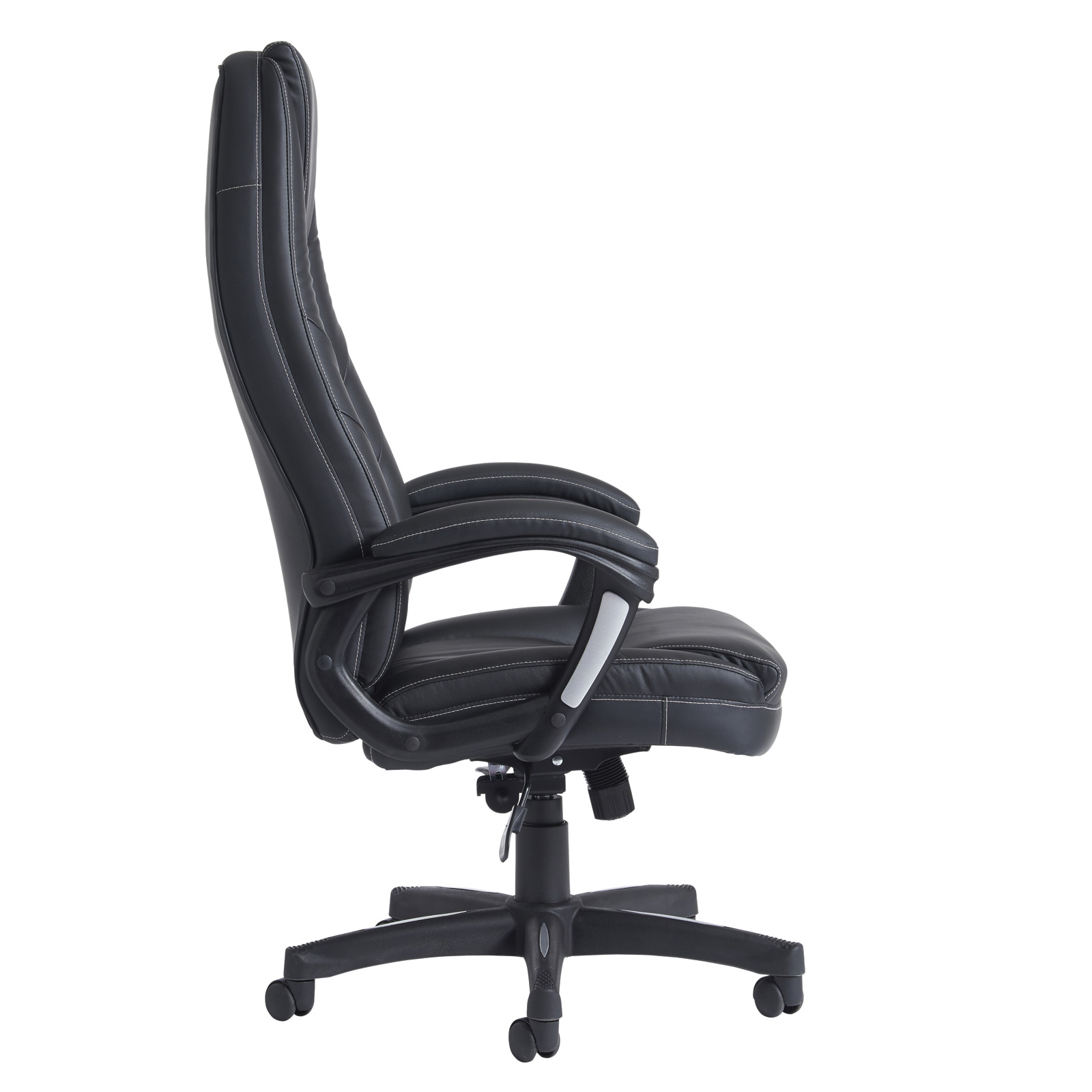 Noble high back managers chair - black faux leather