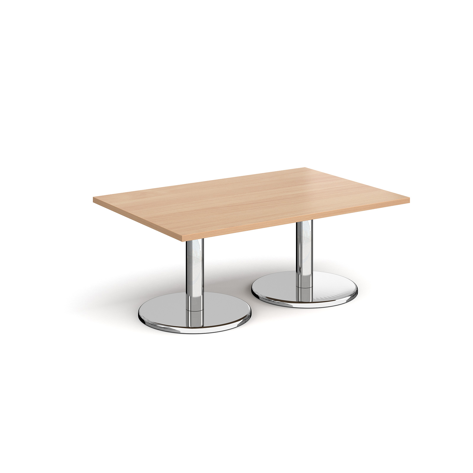 Coffee Pisa rectangular coffee table with round bases