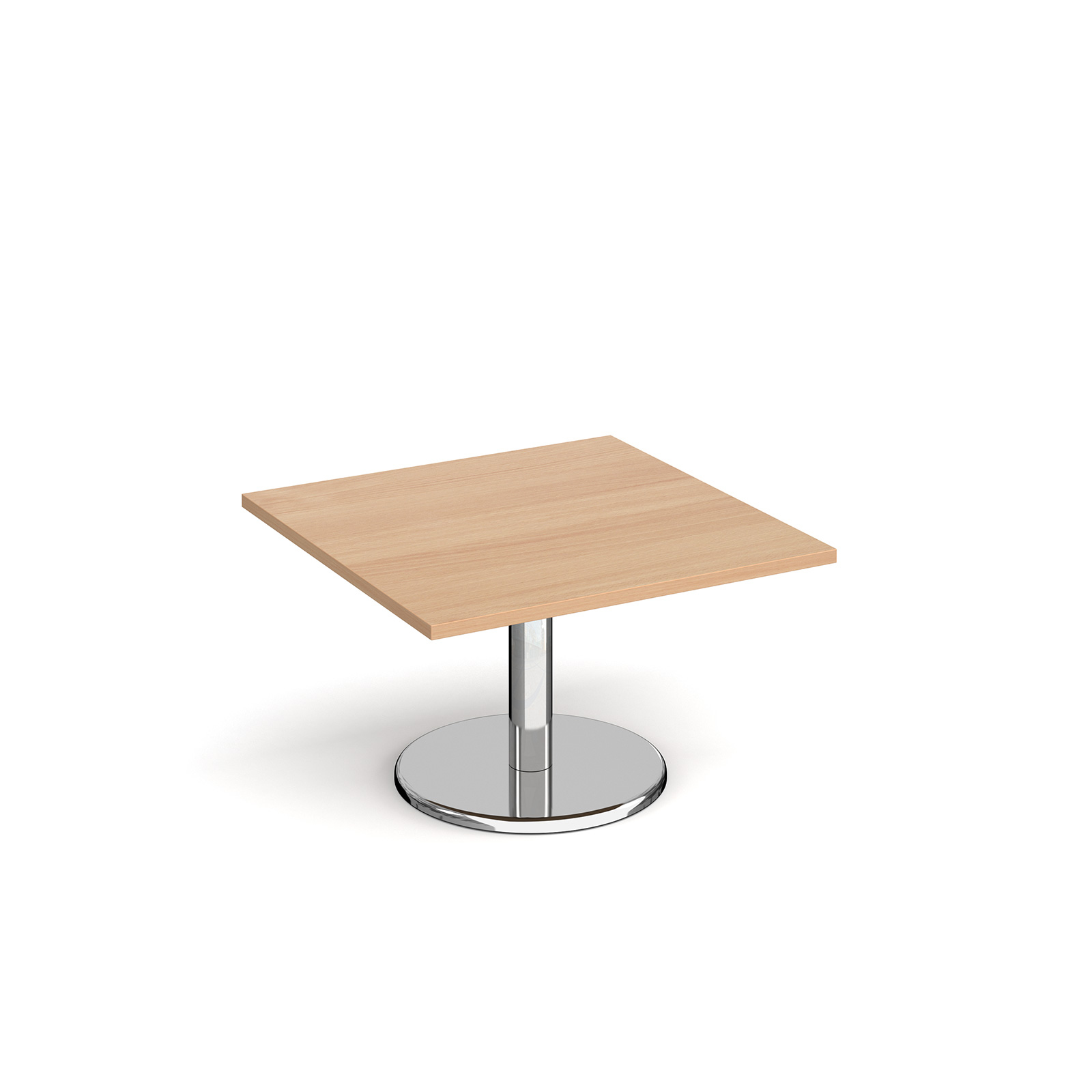 Pisa square coffee table with round base