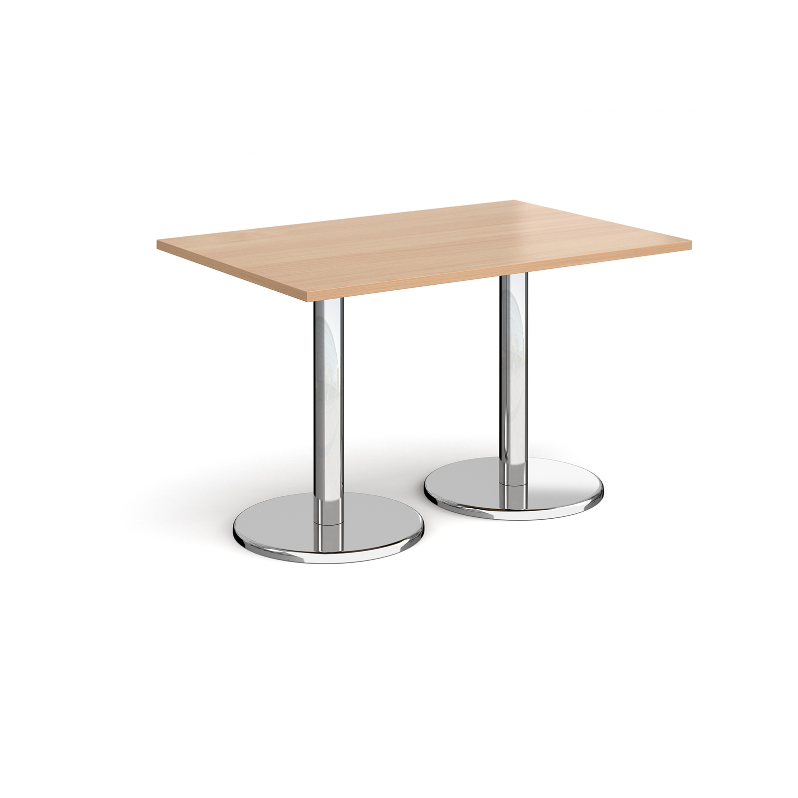 Canteen / Dining Pisa rectangular dining table with round bases