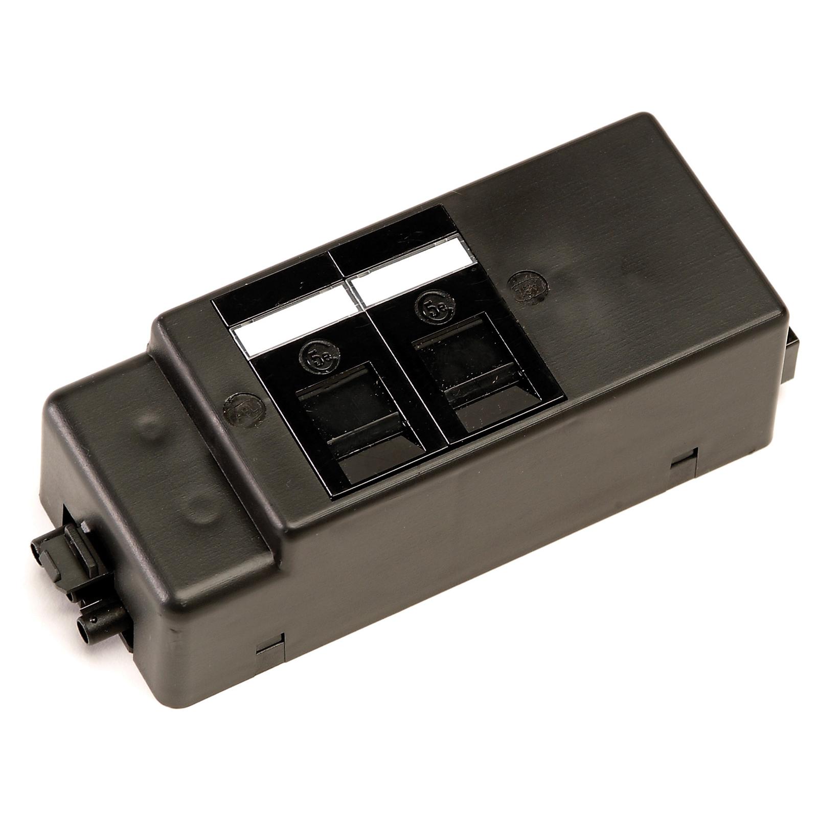 Plug Socket Under desk power bar 2 x RJ45 sockets - black