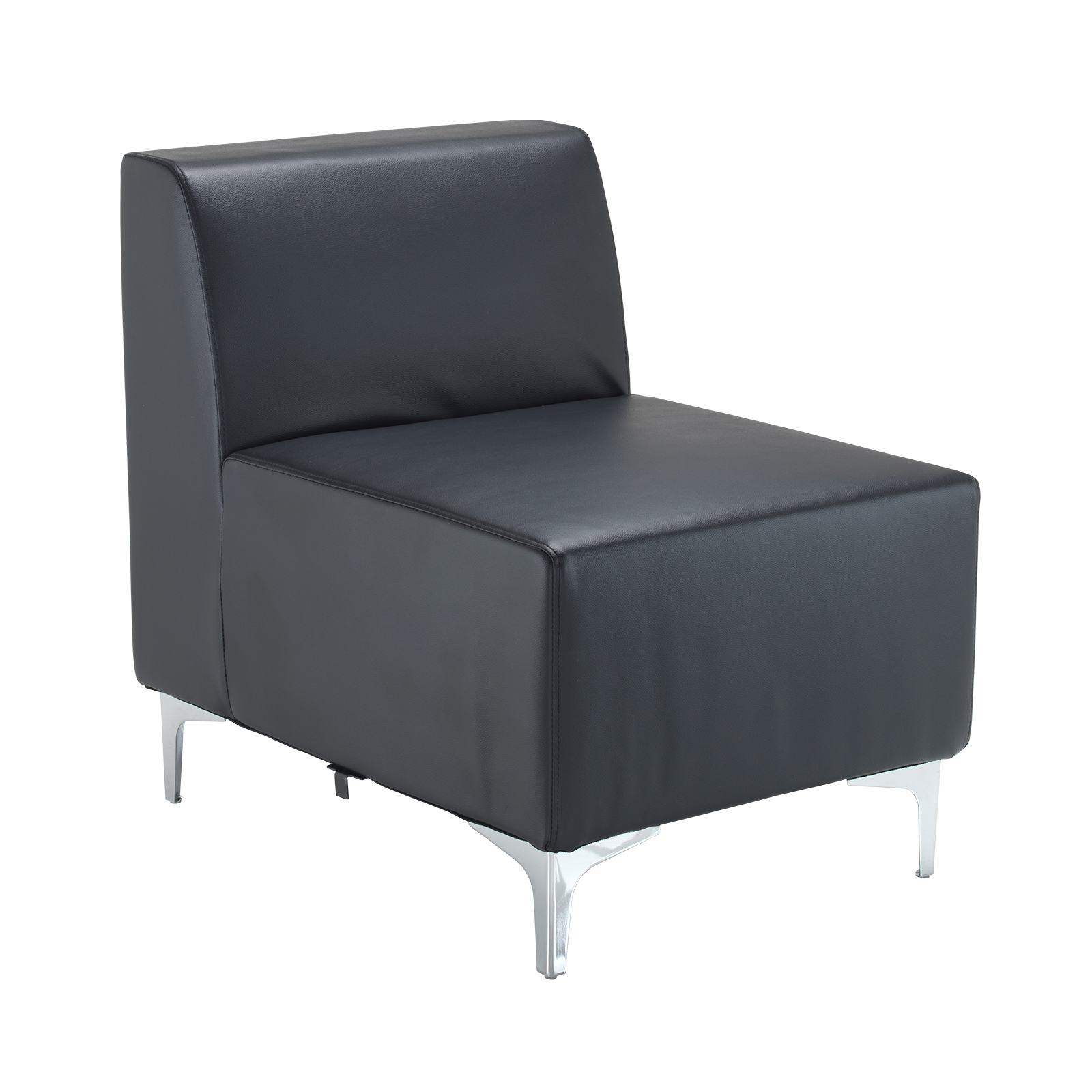 Reception Chairs Quatro leather modular reception seating
