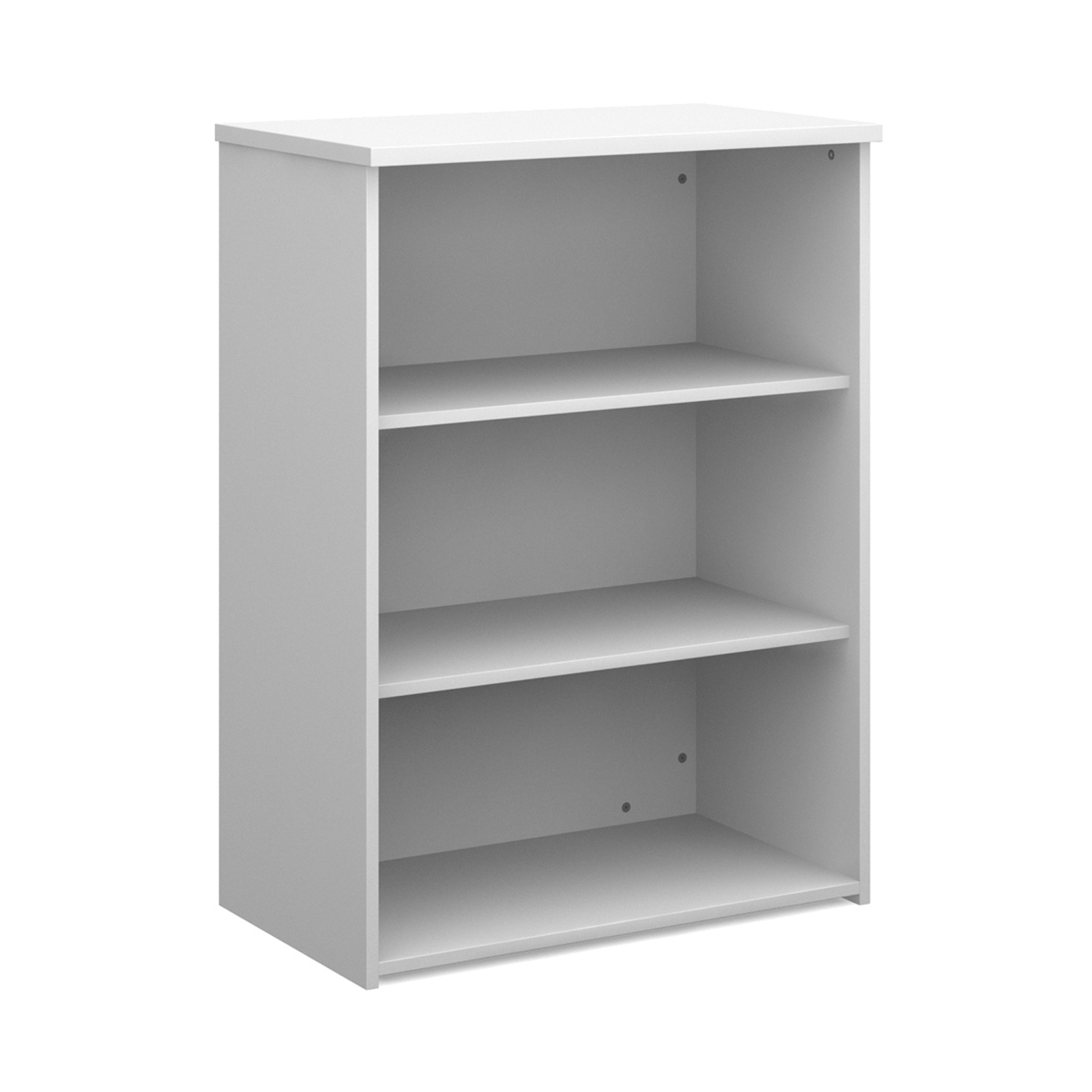 Up To 1200mm High Universal bookcase 1090mm high with 2 shelves - white