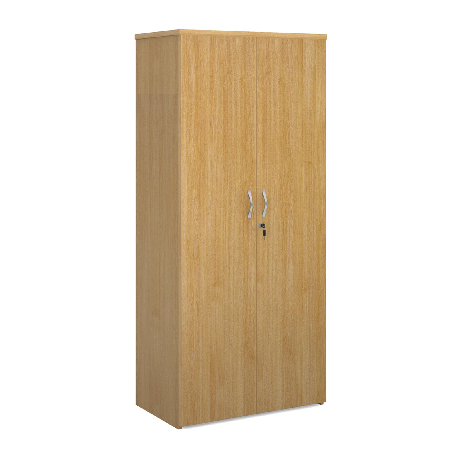 Over 1200mm High Universal double door cupboard 1790mm high with 4 shelves - oak