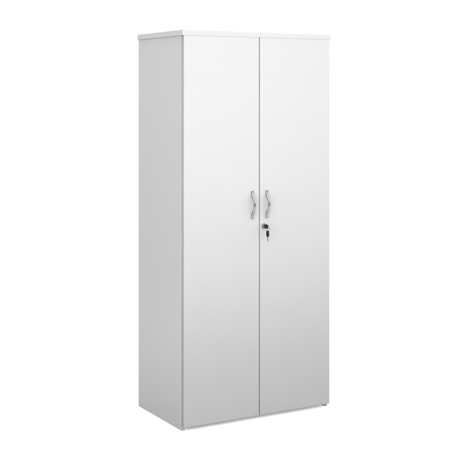 Over 1200mm High Universal double door cupboard 1790mm high with 4 shelves - white