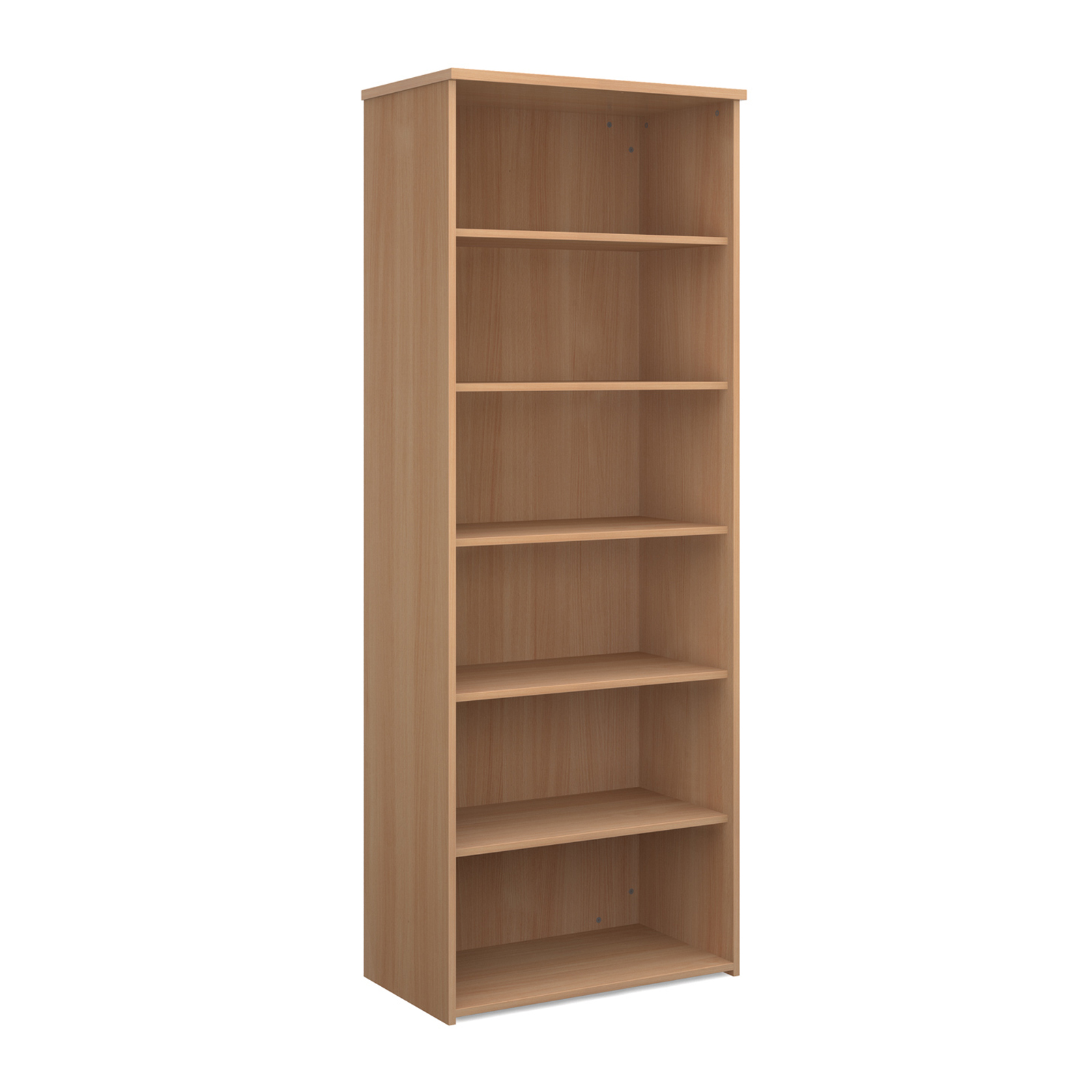 Over 1200mm High Universal bookcase 2140mm high with 5 shelves - beech