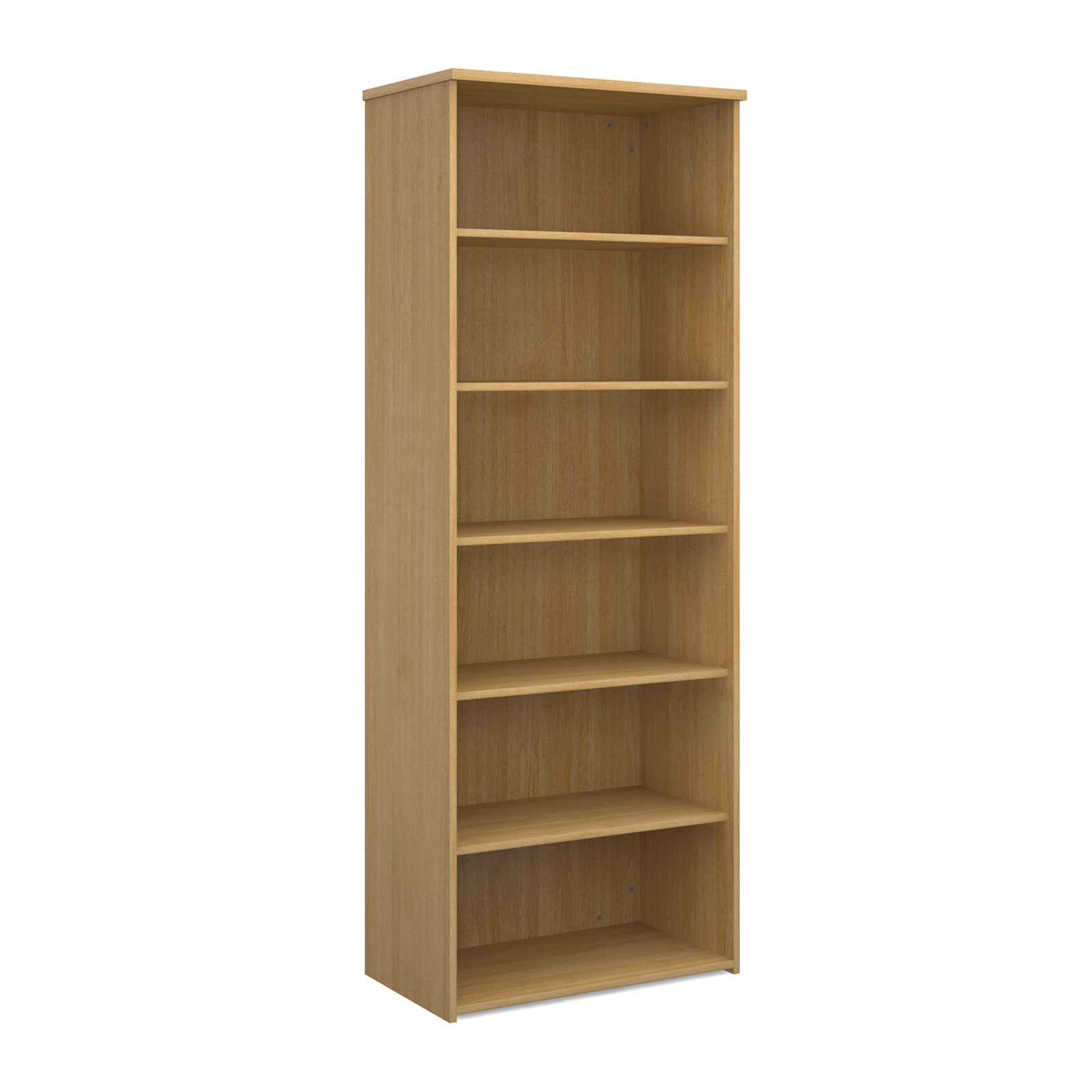 Over 1200mm High Universal bookcase 2140mm high with 5 shelves - oak