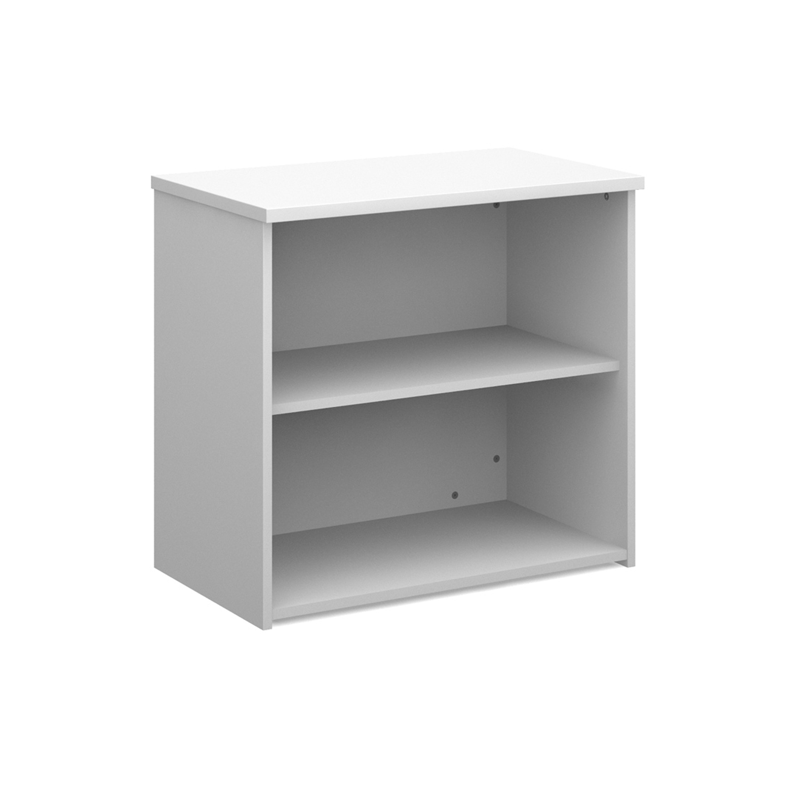 Up To 1200mm High Universal bookcase 740mm high with 1 shelf - white