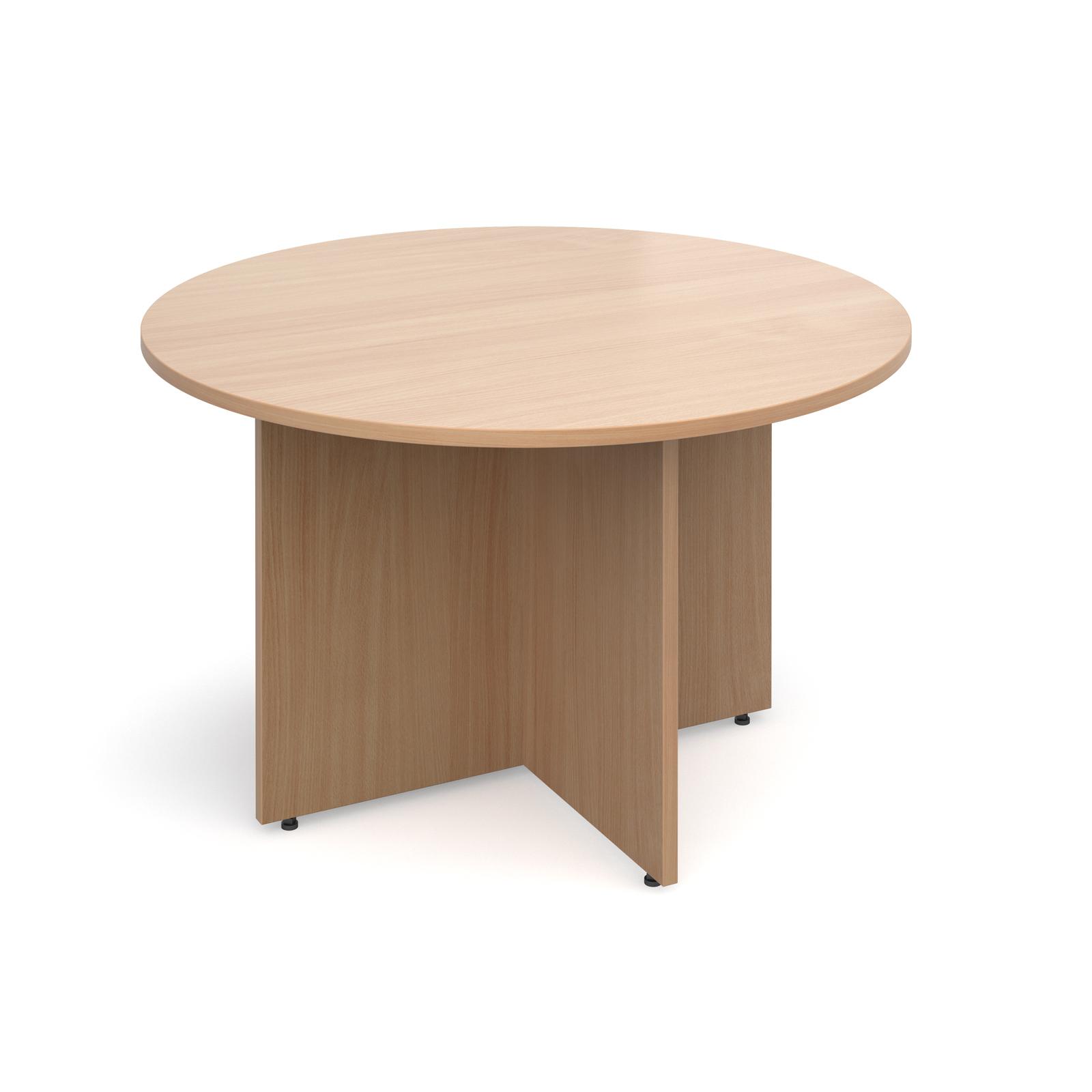 Boardroom / Meeting Arrow head leg circular meeting table