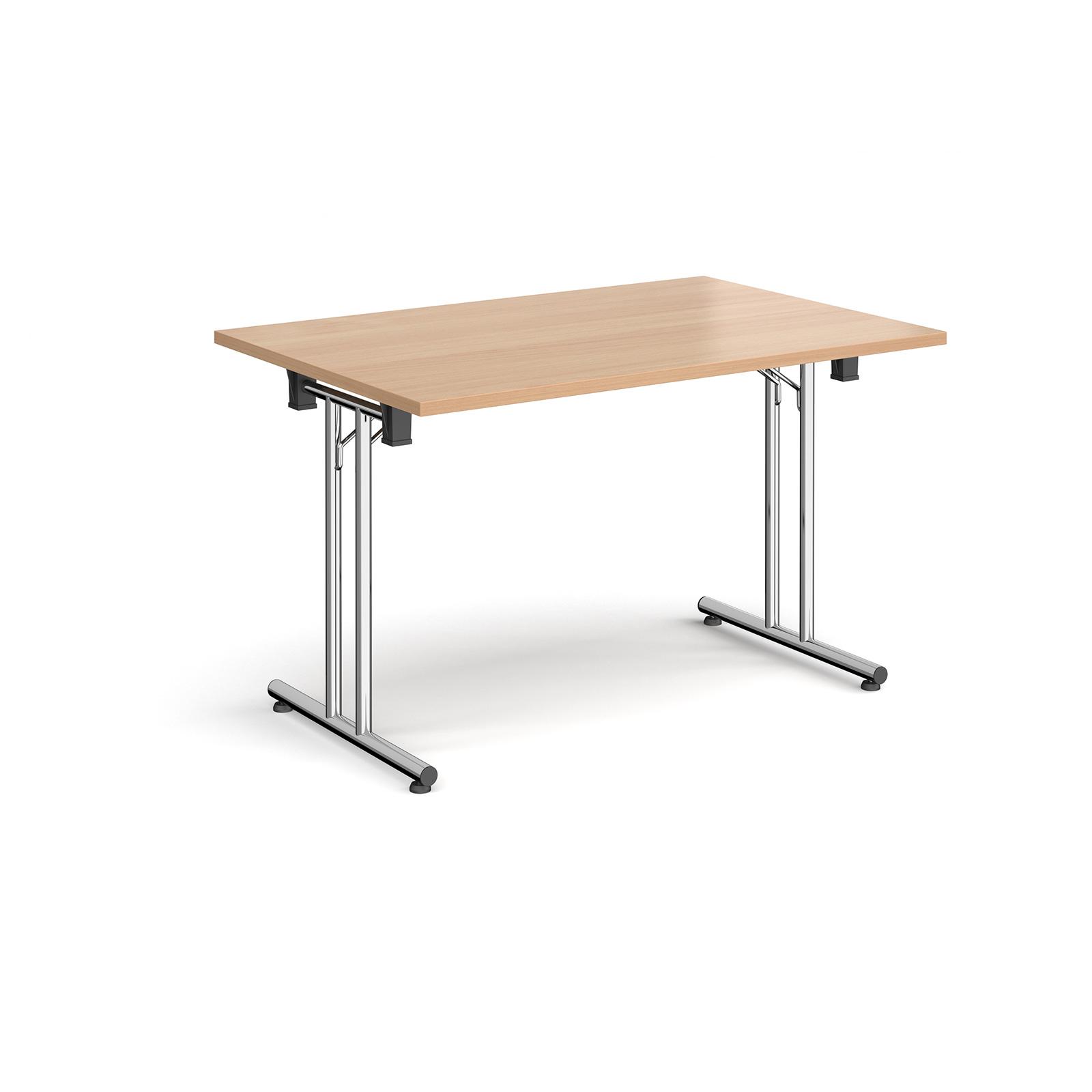 Boardroom / Meeting Rectangular folding leg table with straight feet