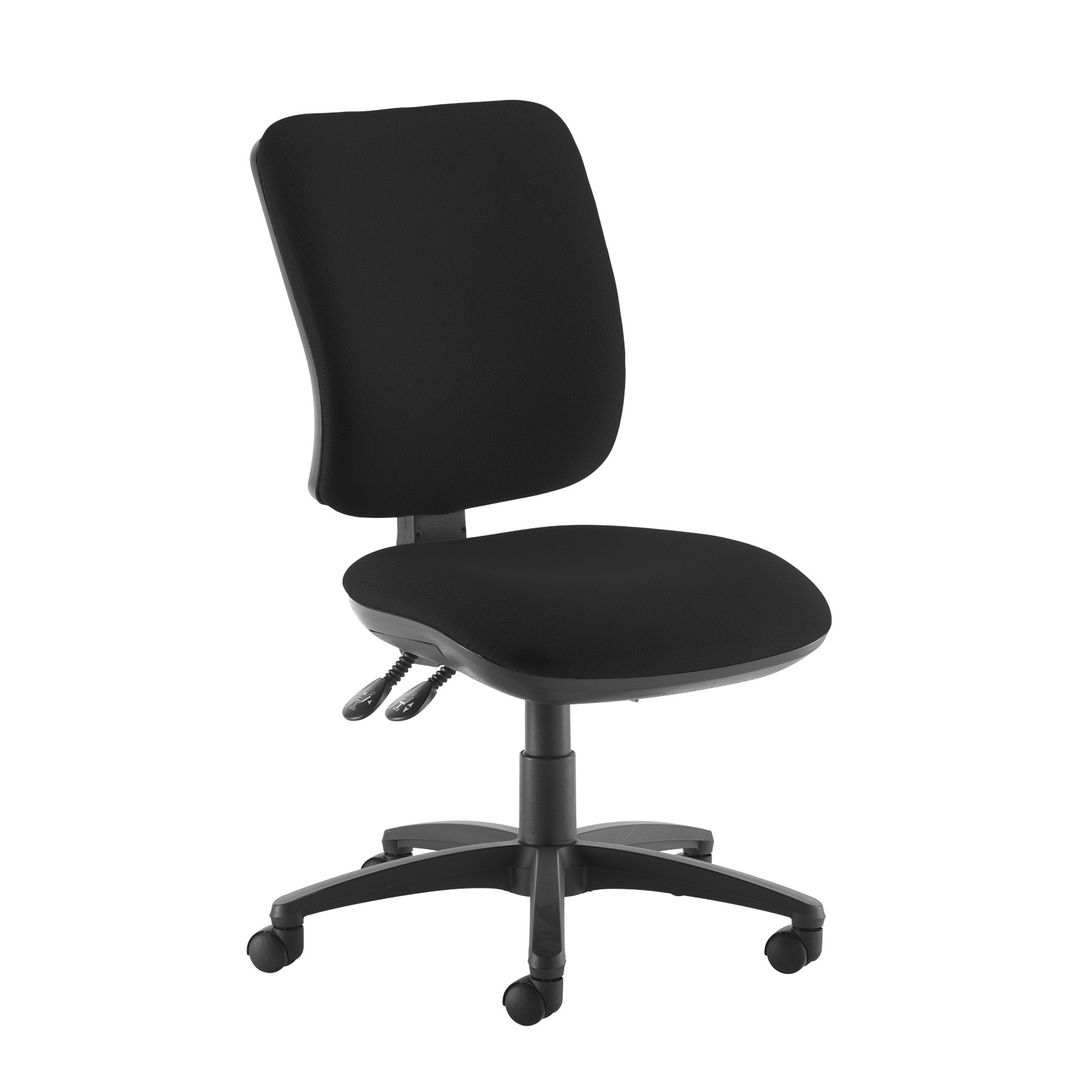 Desk Chairs Senza high back operator chair with no arms - black