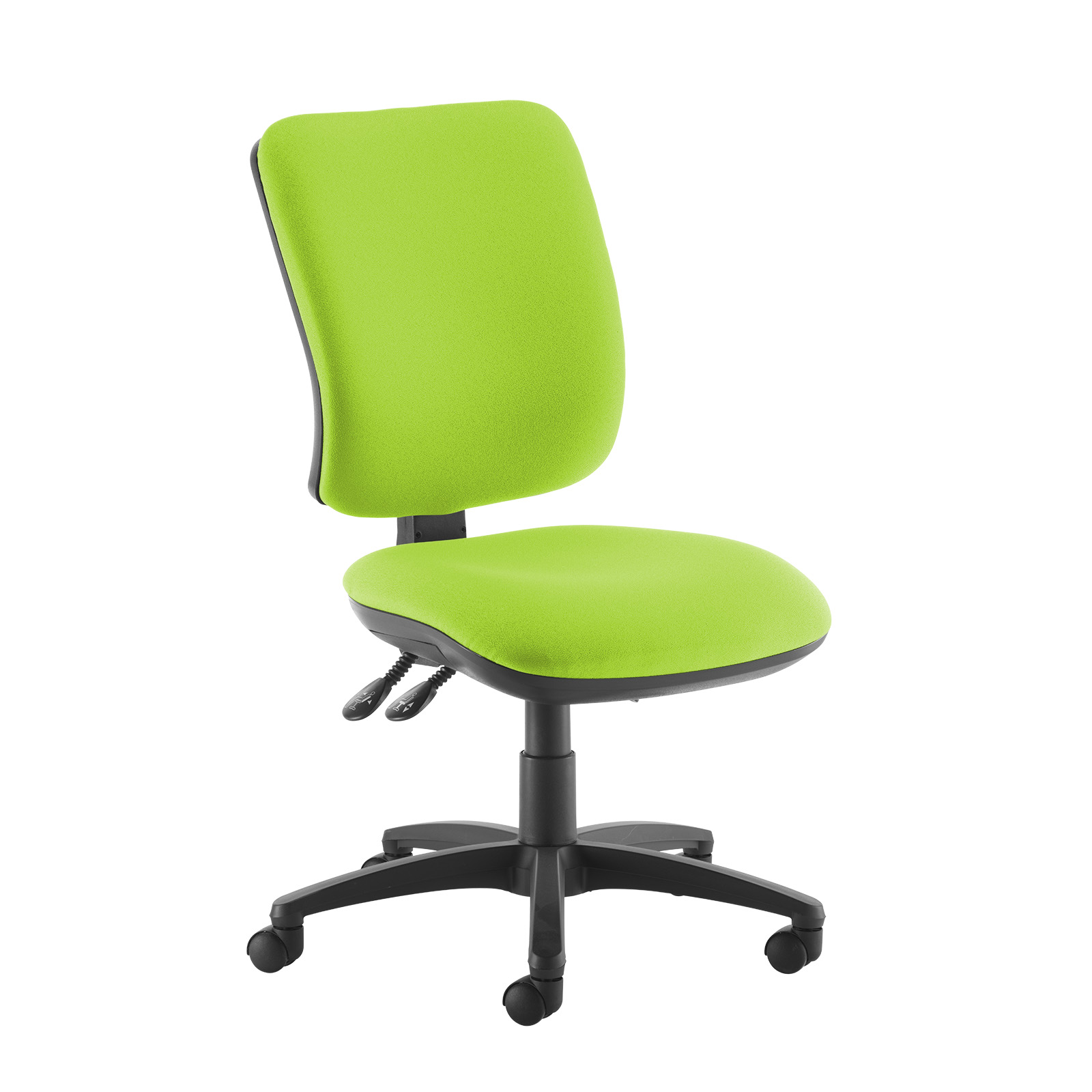 Desk Chairs Senza high back operator chair with no arms - green