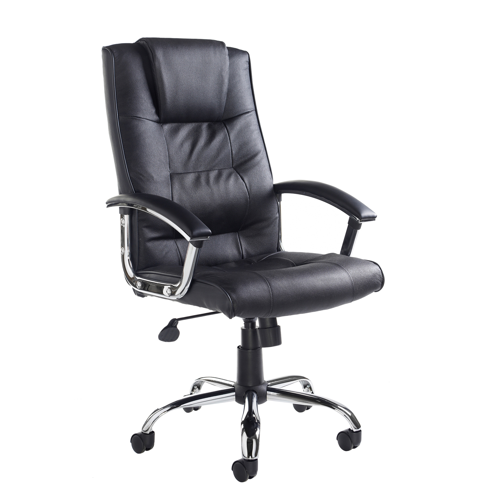 Executive Chairs Somerset high back managers chair - black leather faced