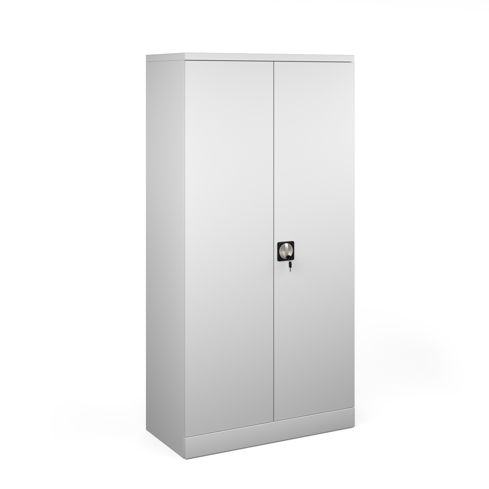 Cupboards / Lockers & Accessories Steel contract cupboard with 3 shelves 1830mm high - light grey
