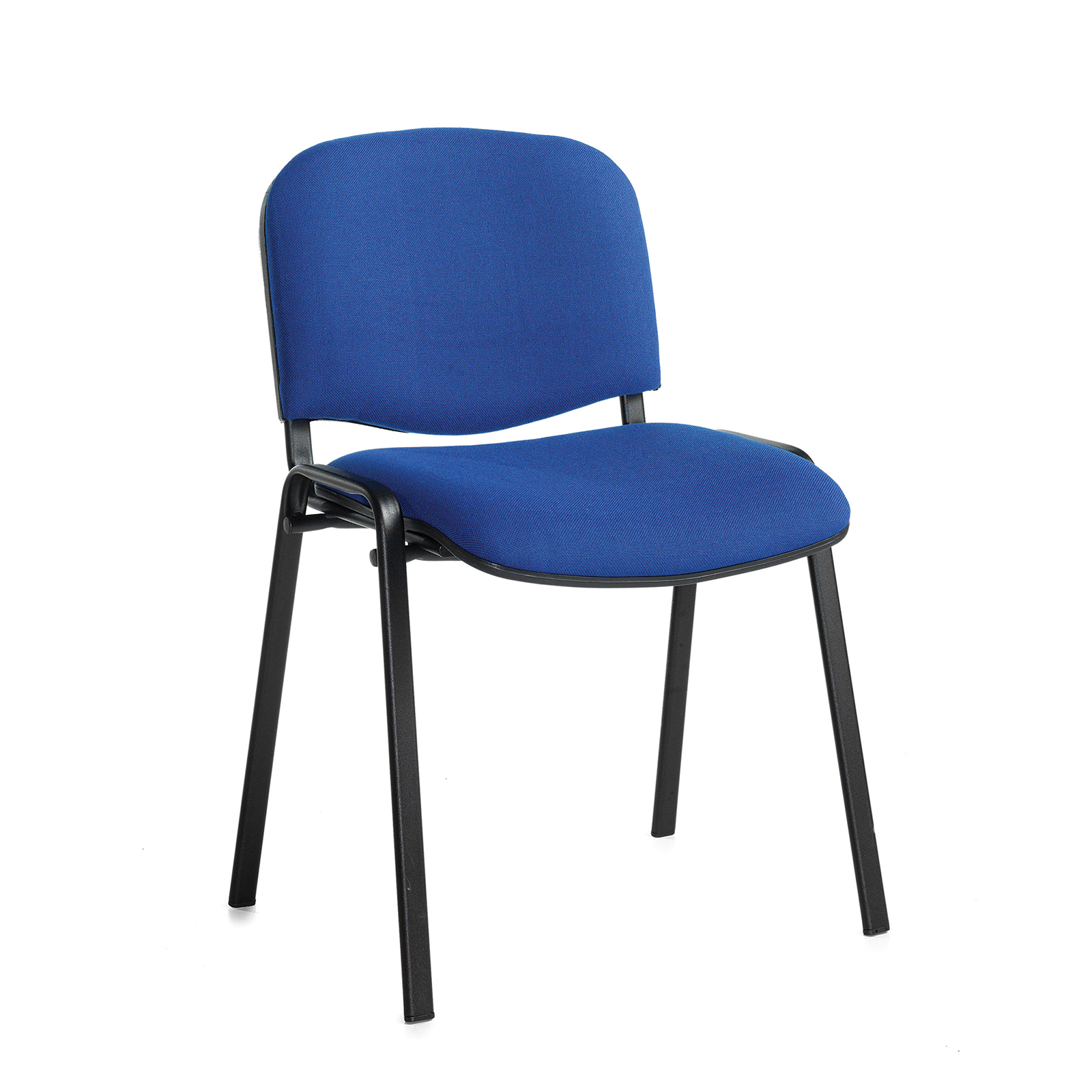 Boardroom / Meeting Taurus meeting room stackable chair with black frame and no arms - blue