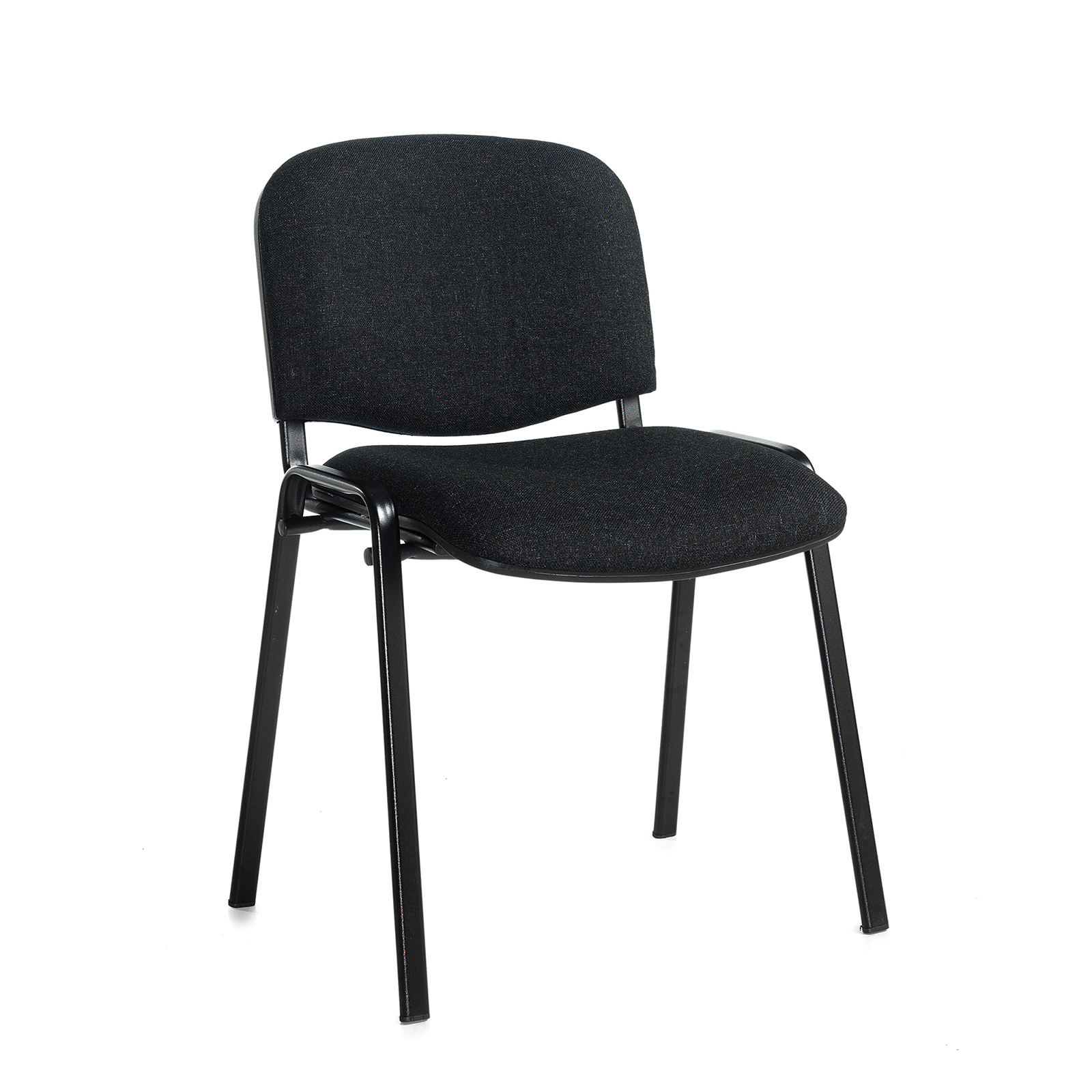 Boardroom / Meeting Taurus meeting room stackable chair with black frame and no arms - charcoal