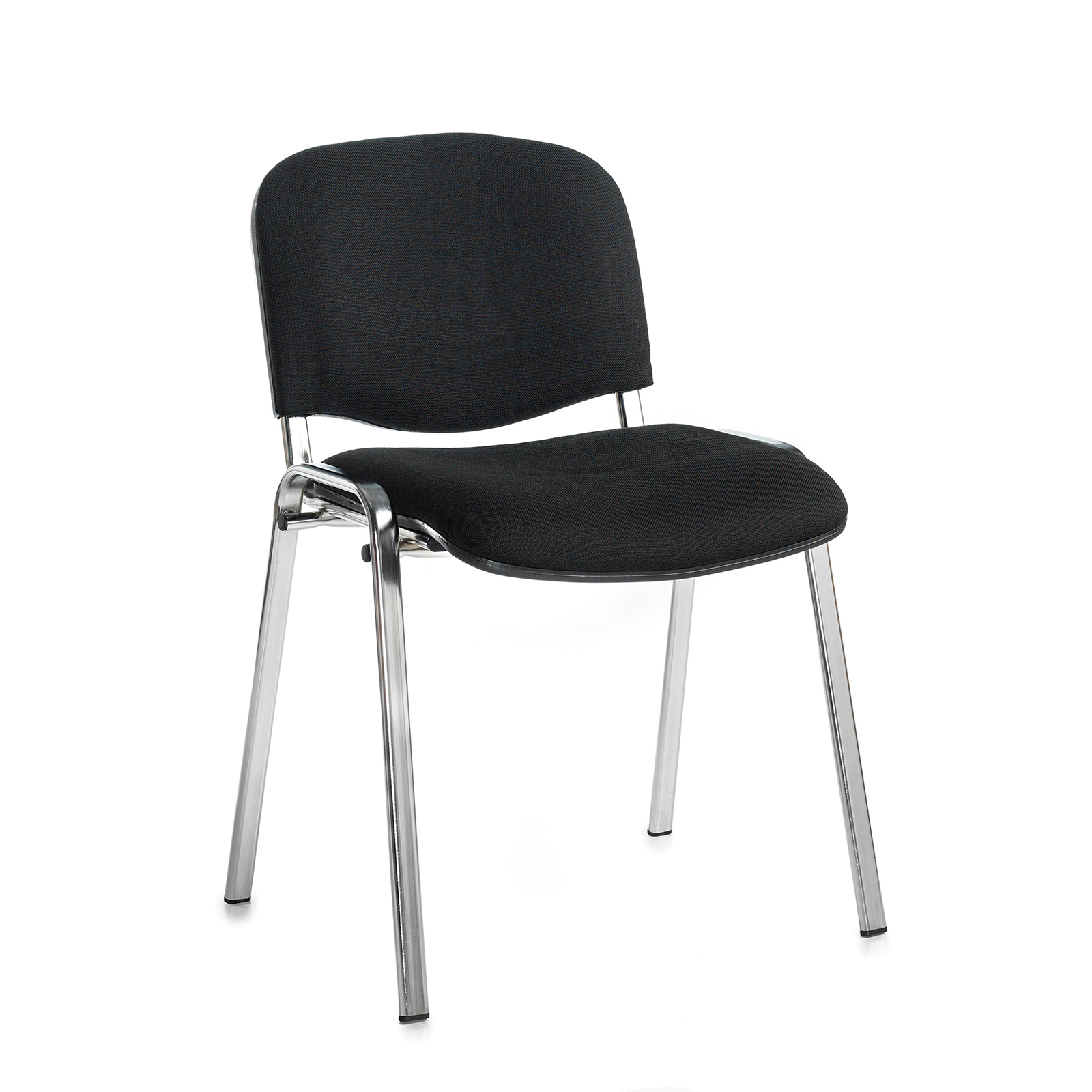Boardroom / Meeting Taurus meeting room stackable chair with chrome frame and no arms - black